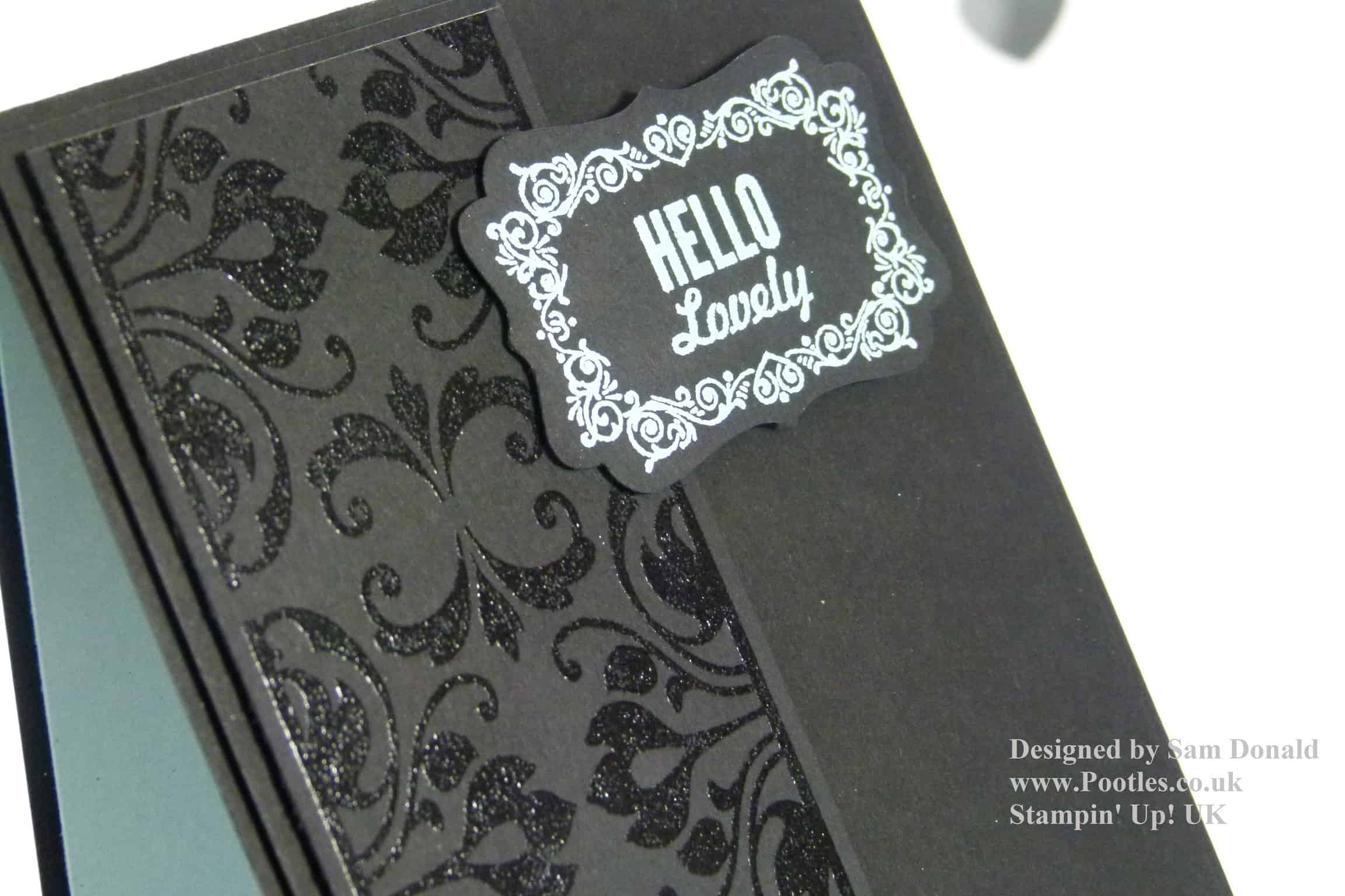Pootles Stampin Up Heat Embossed Hello Lovely 2 (2)