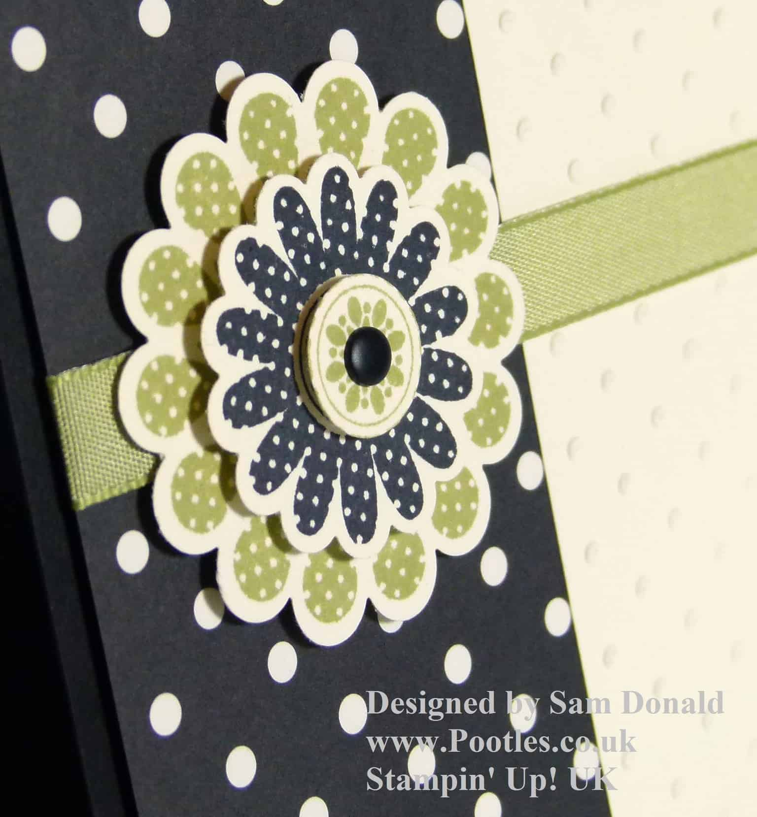 POOTLES Stampin Up Polka Dot Pear Pizzazz 3