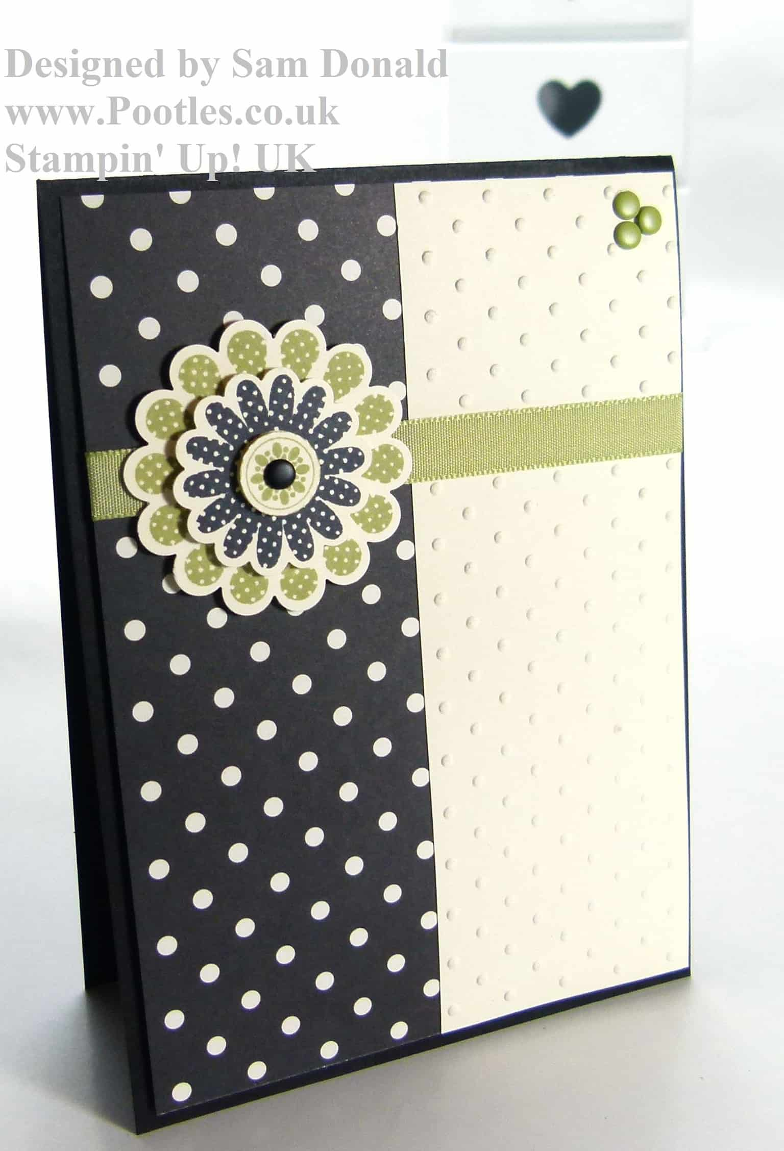 POOTLES Stampin Up Polka Dot Pear Pizzazz