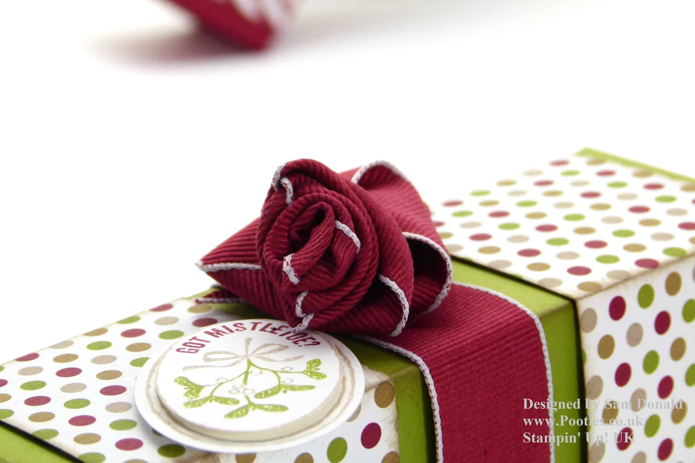 Pootles Stampin Up Ribbon Rose Tutorial