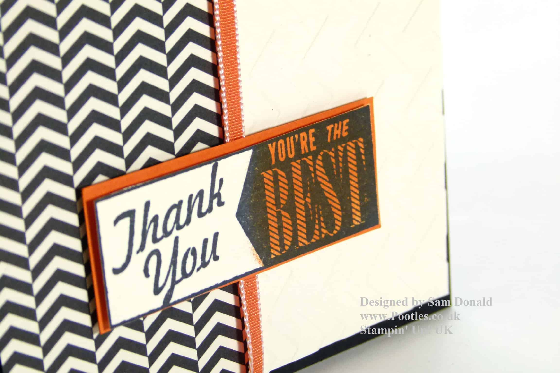 POOTLES Stampin Up Thank You Modern Medley