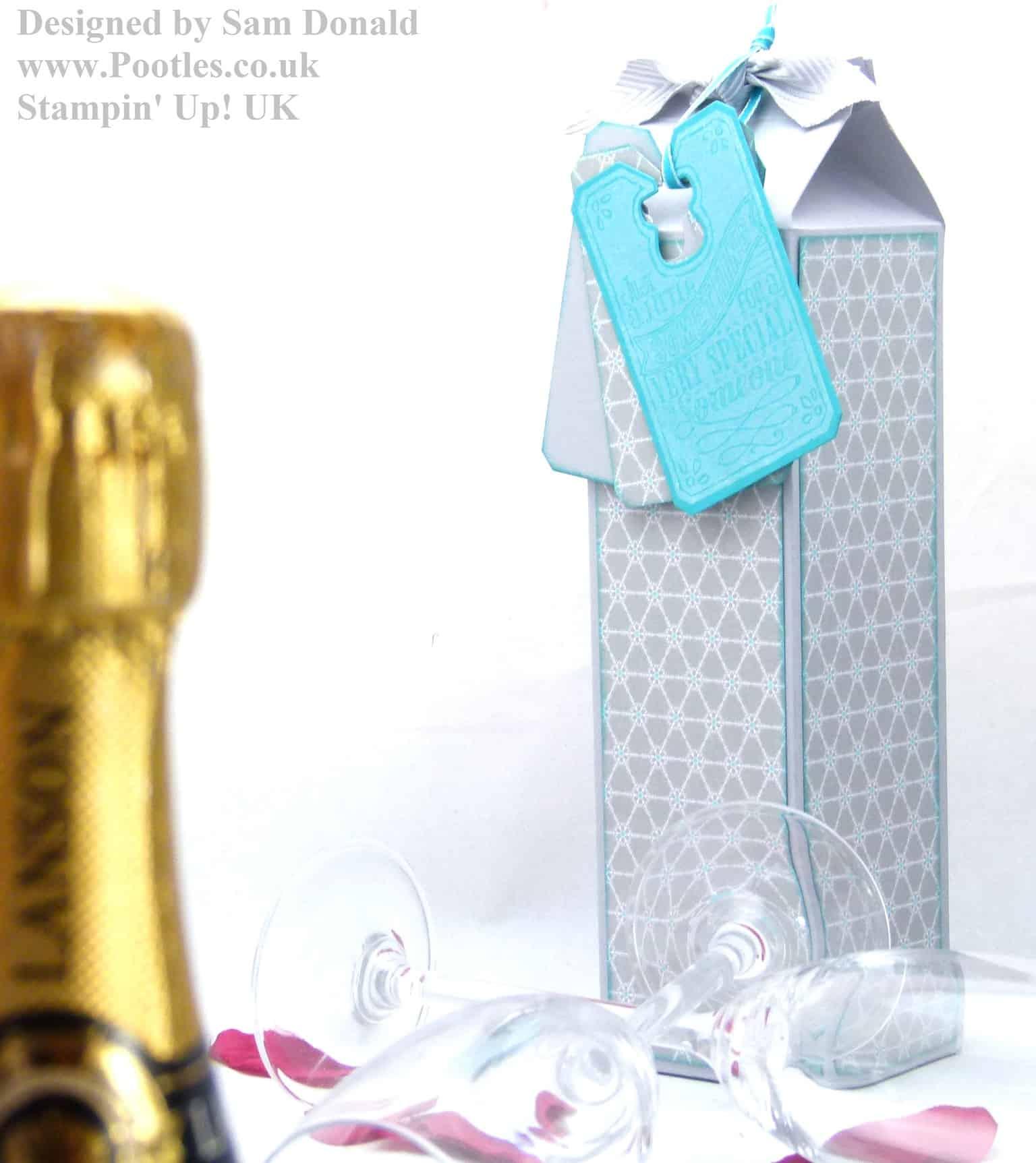 Pootles Stampin Up UK Champagne Box