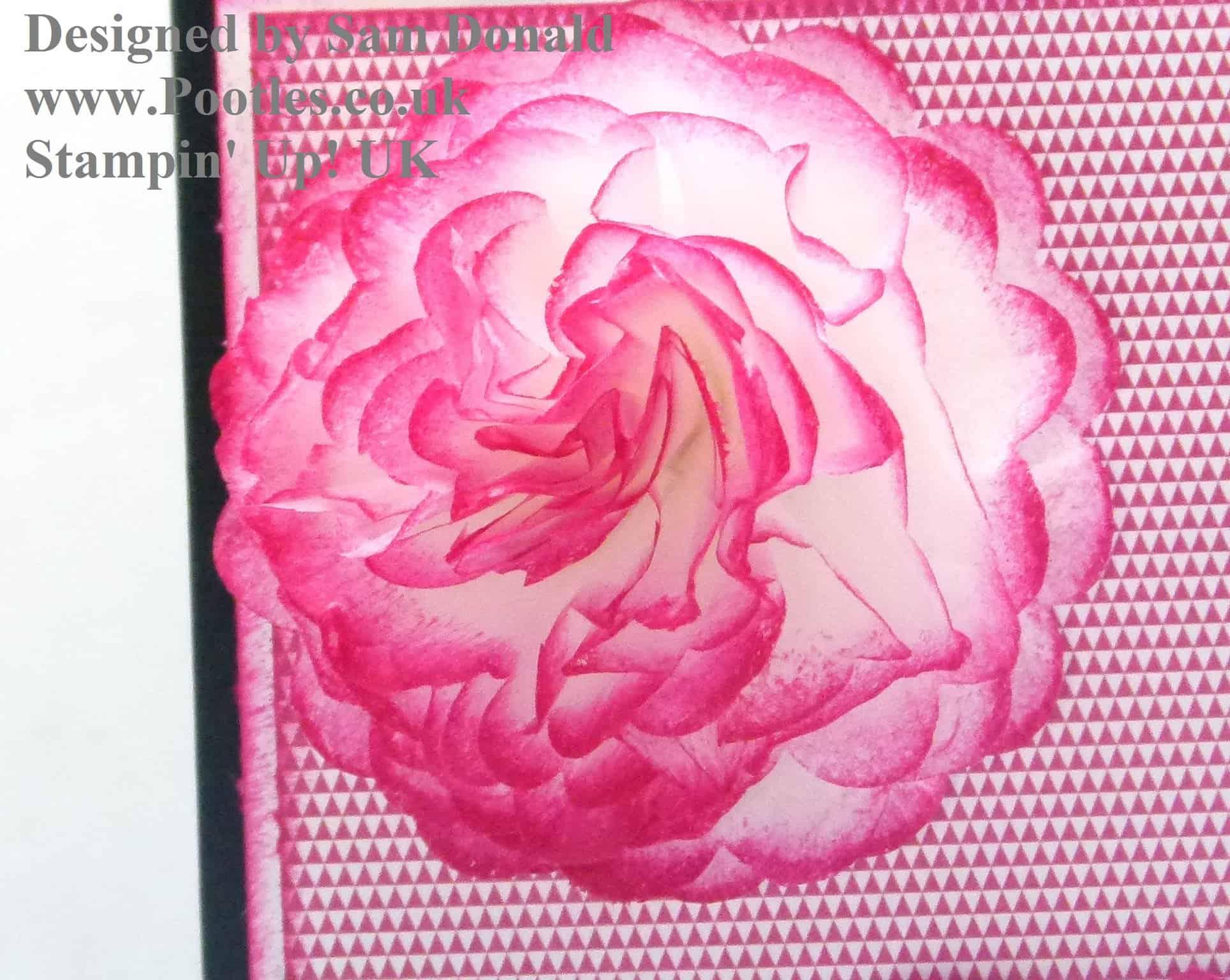 Pootles Stampin Up UK Crepe Filter Flower Tutorial 2