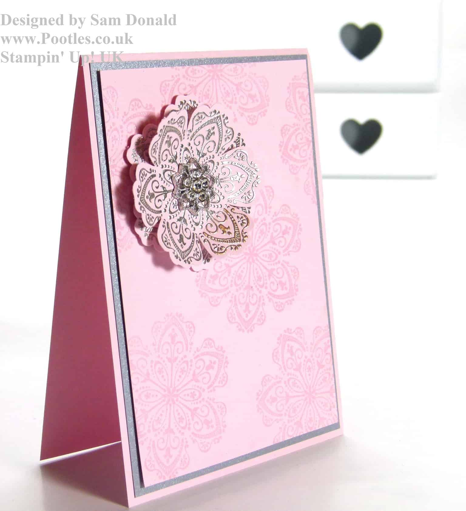 POOTLES Stampin Up UK Silver Embossed Mixed Bunch 2