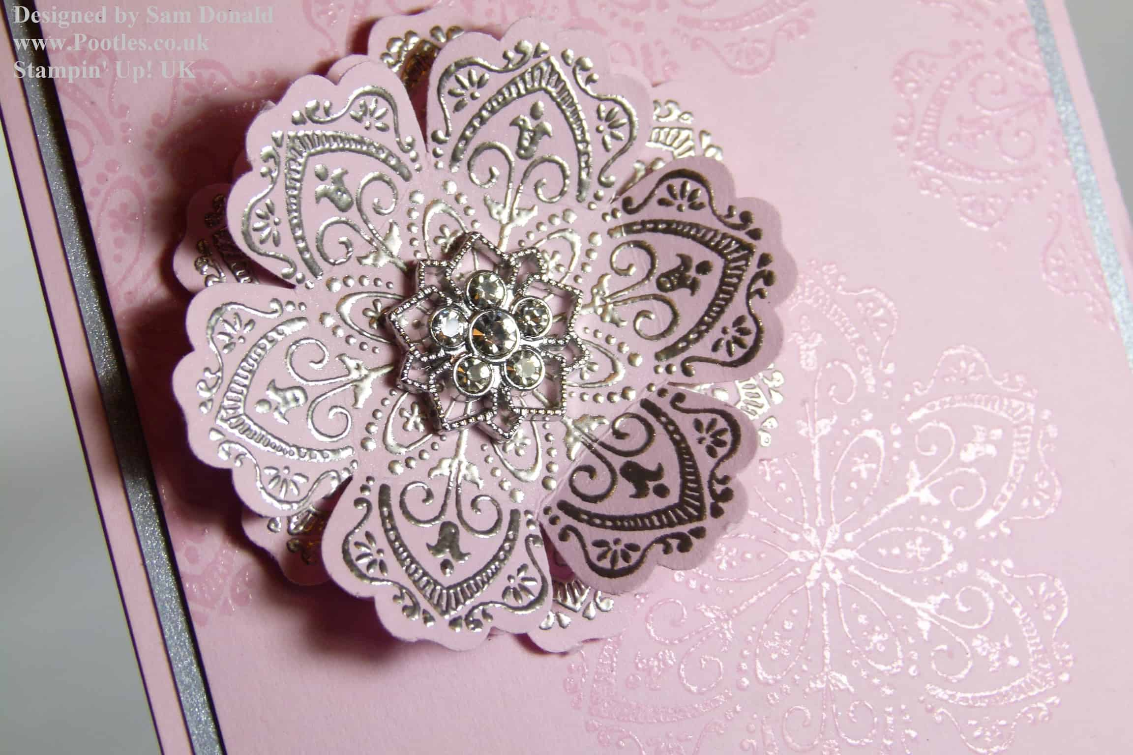 Silver Embossed Mixed Bunch