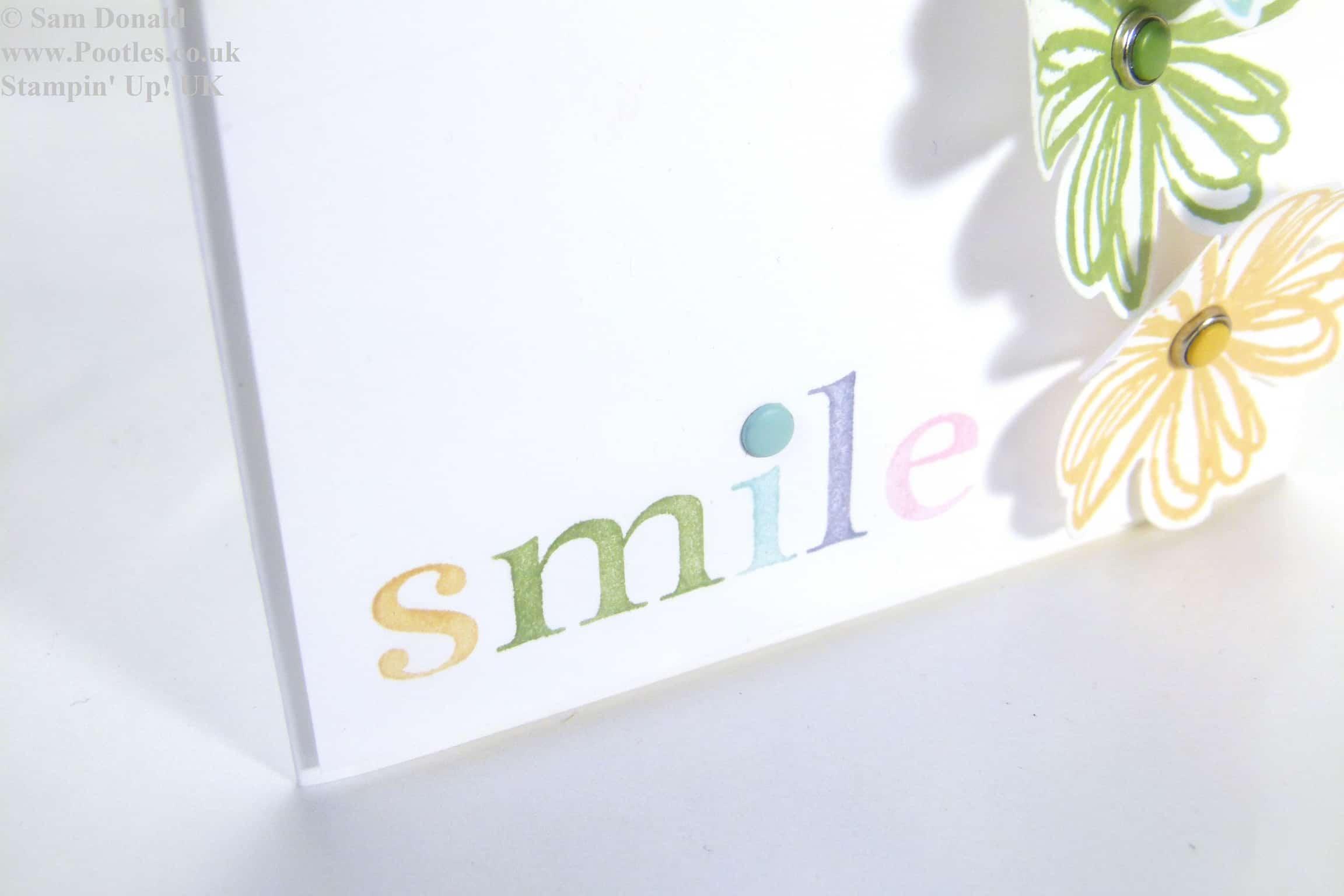 POOTLES Stampin Up UK Subtle Smile 2