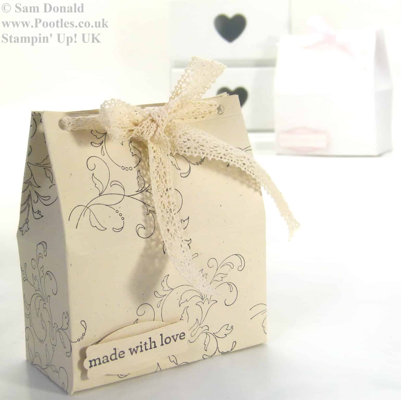 POOTLES Stampin Up Wide Tub Gift Box Tutorial 3