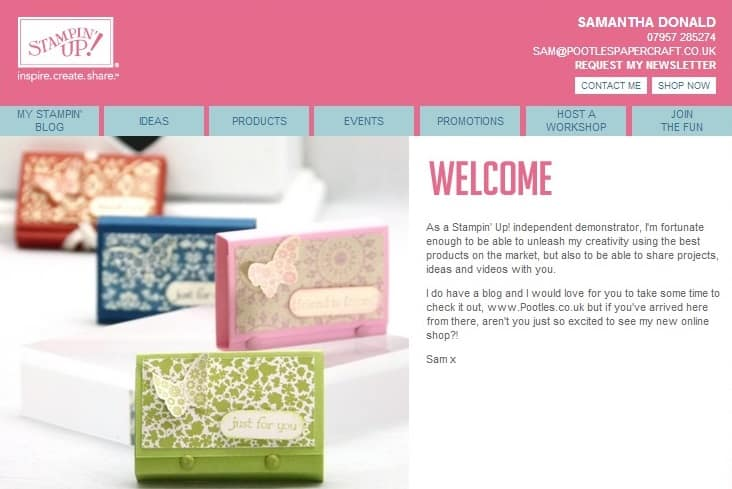 stampin up uk shop online
