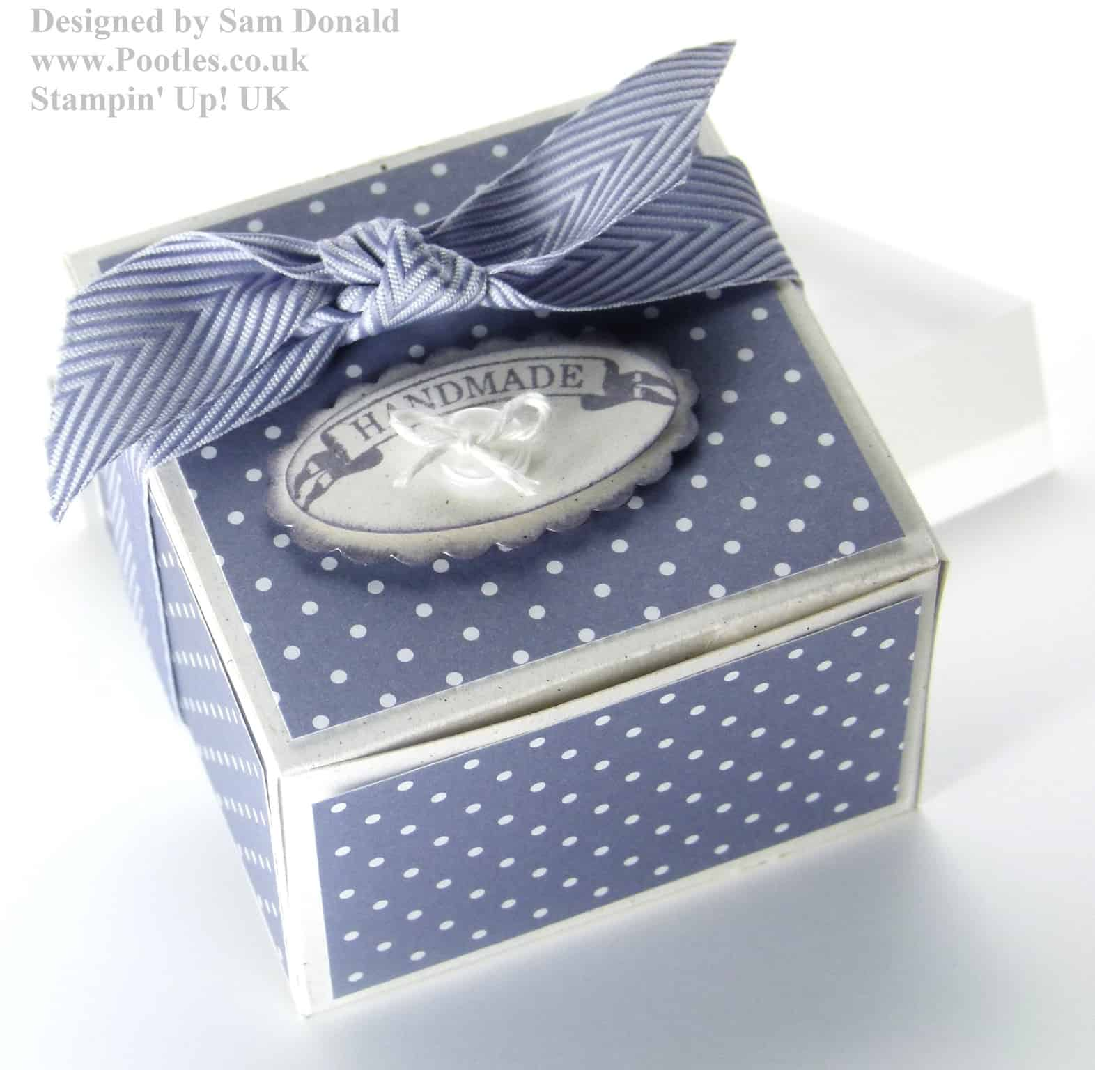 Stampin Up UK Short Fat Candle Gift Box 3