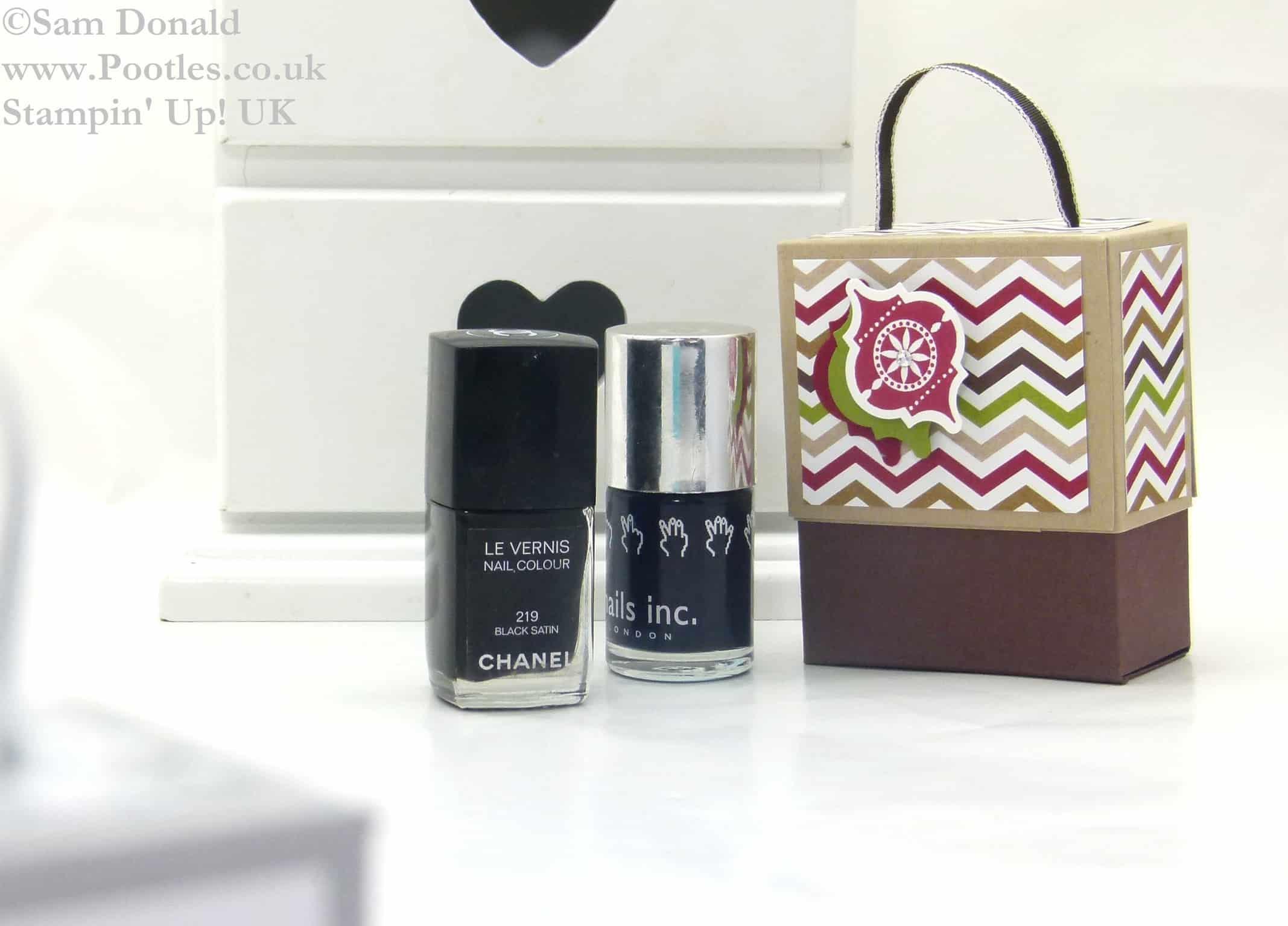 POOTLES Stampin Up ADVENT COUNTDOWN 10 Nail Polish Gift Box 4