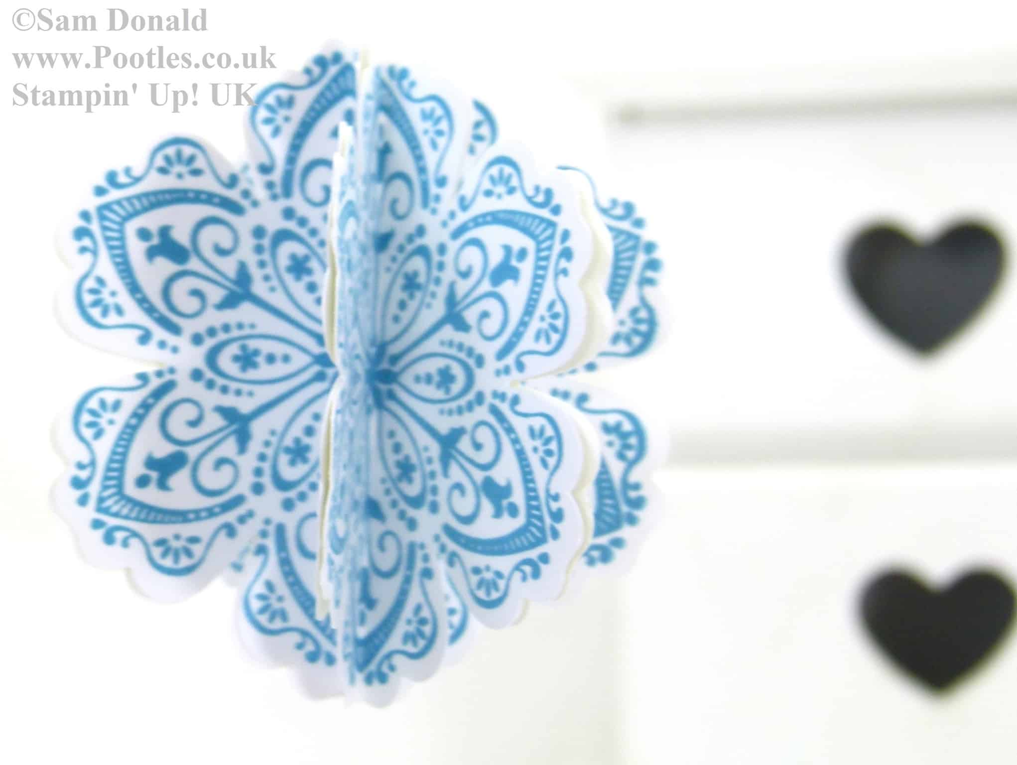 POOTLES Stampin Up Advent Countdown 3D Flower Tutorial