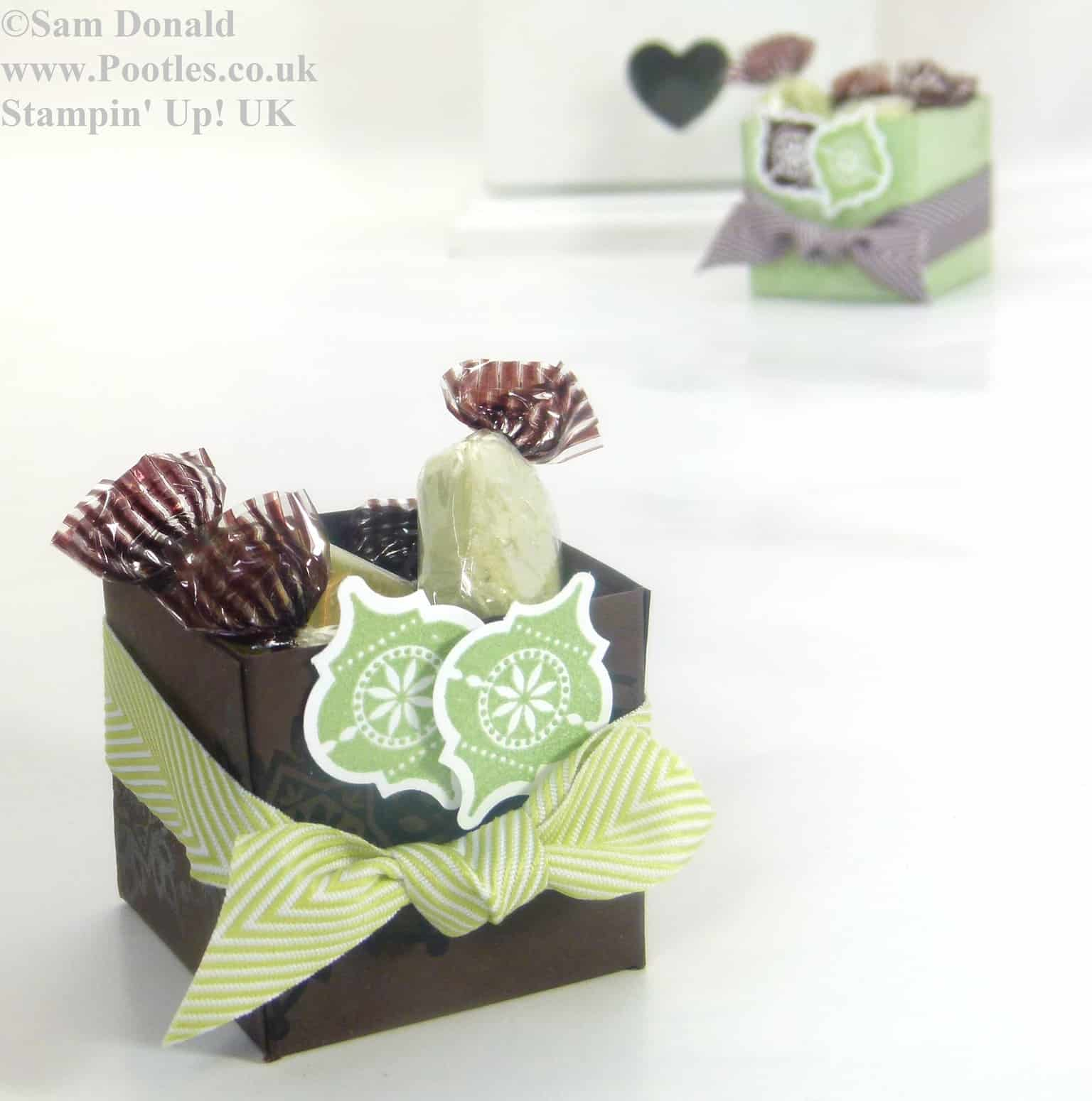 POOTLES Stampin Up ADVENT COUNTDOWN 4 Sweetie Favour Box VIDEO 3