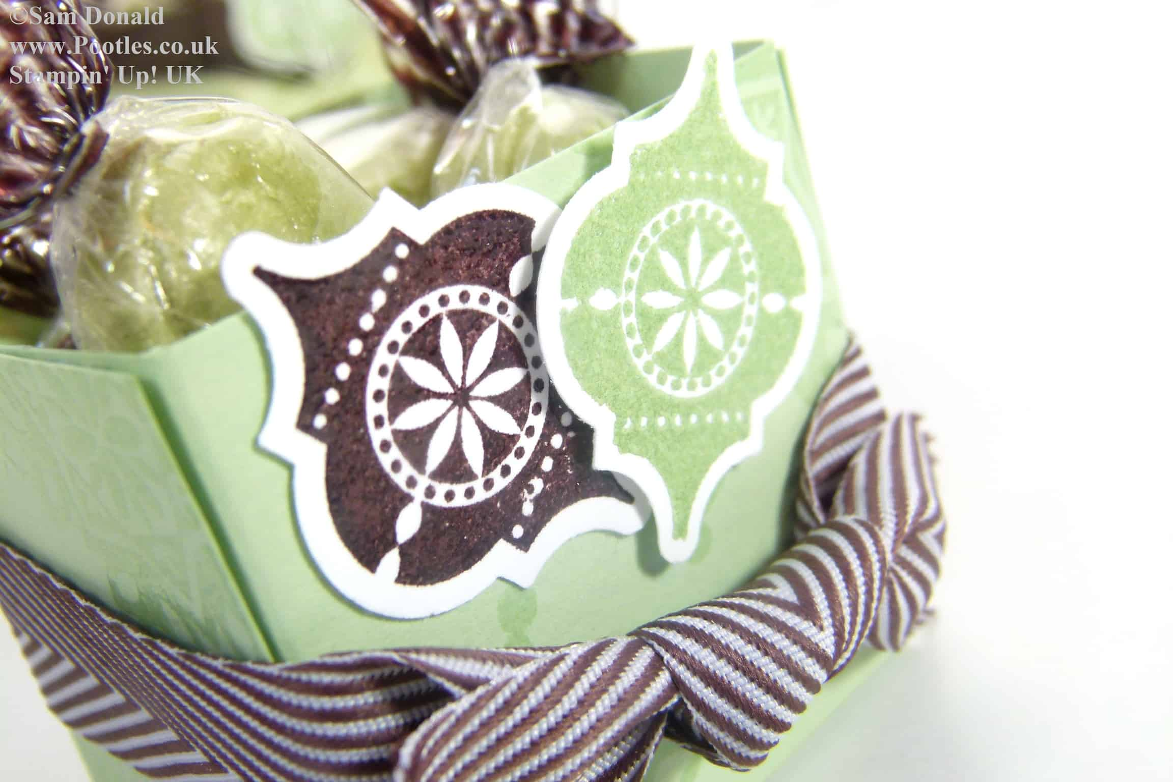 POOTLES Stampin Up ADVENT COUNTDOWN 4 Sweetie Favour Box VIDEO