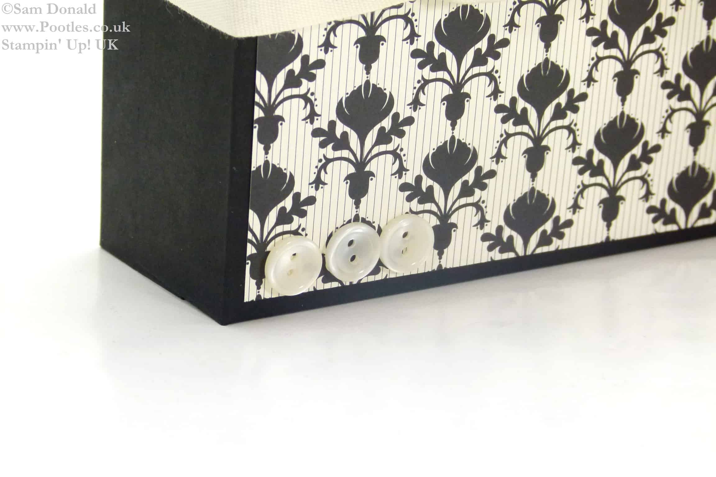 POOTLES Stampin Up Framelits Storage Box Tutorial