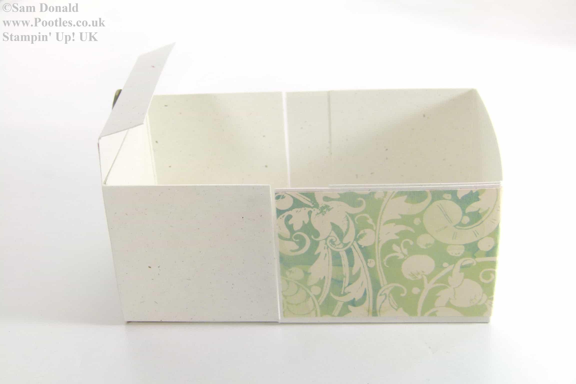 POOTLES Stampin Up Hinged Gift Box Tutorial 2