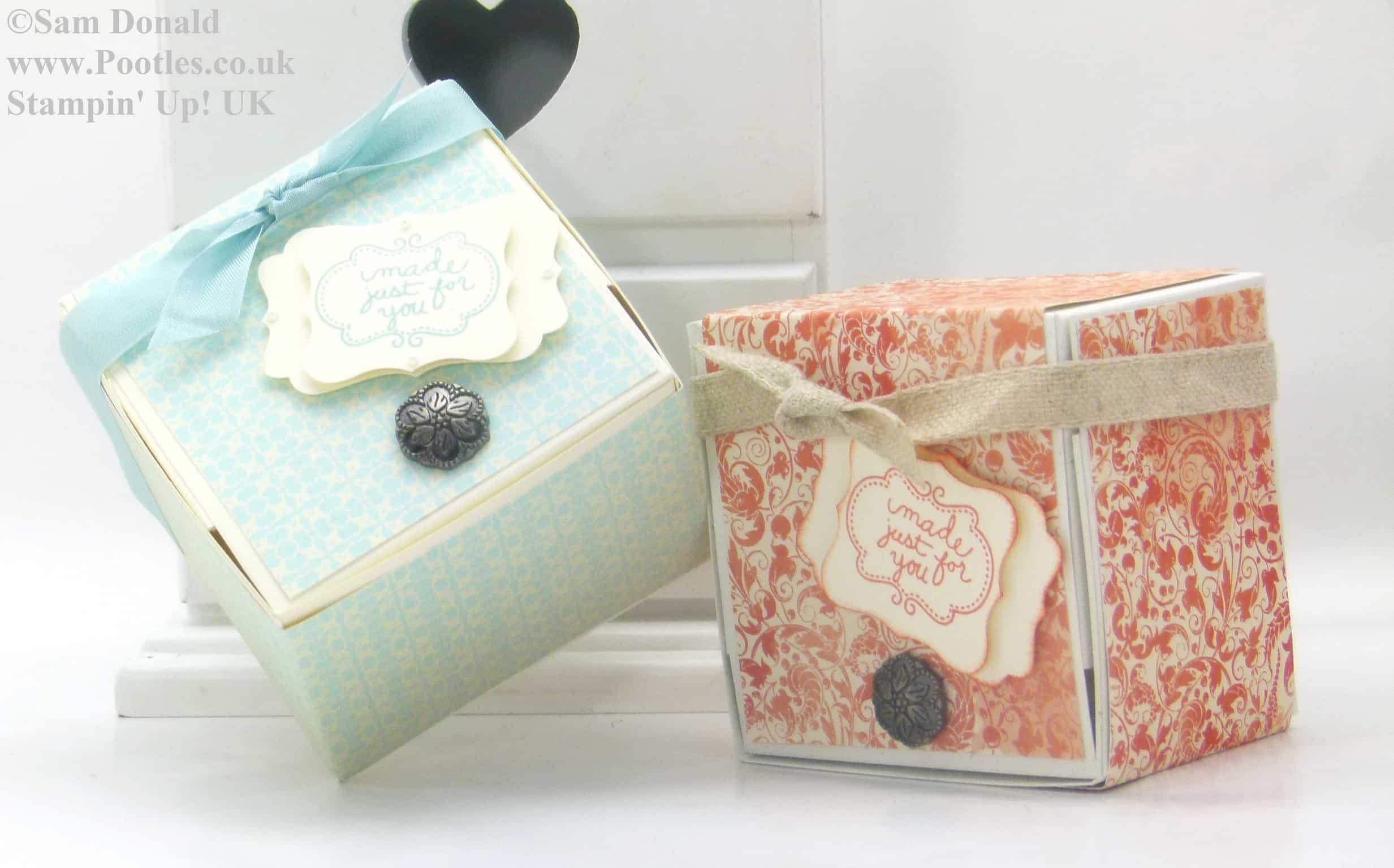POOTLES Stampin Up Hinged Gift Box Tutorial 4