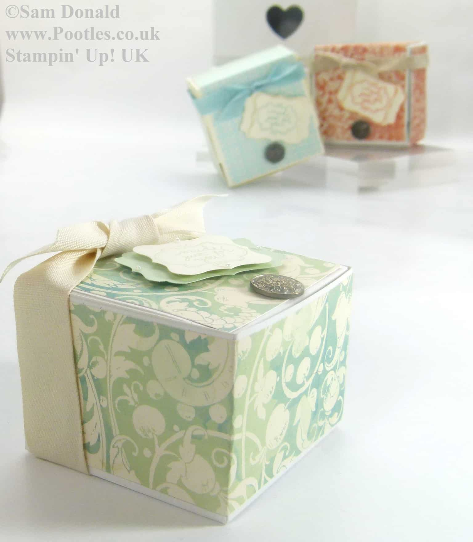 POOTLES Stampin Up Hinged Gift Box Tutorial 5