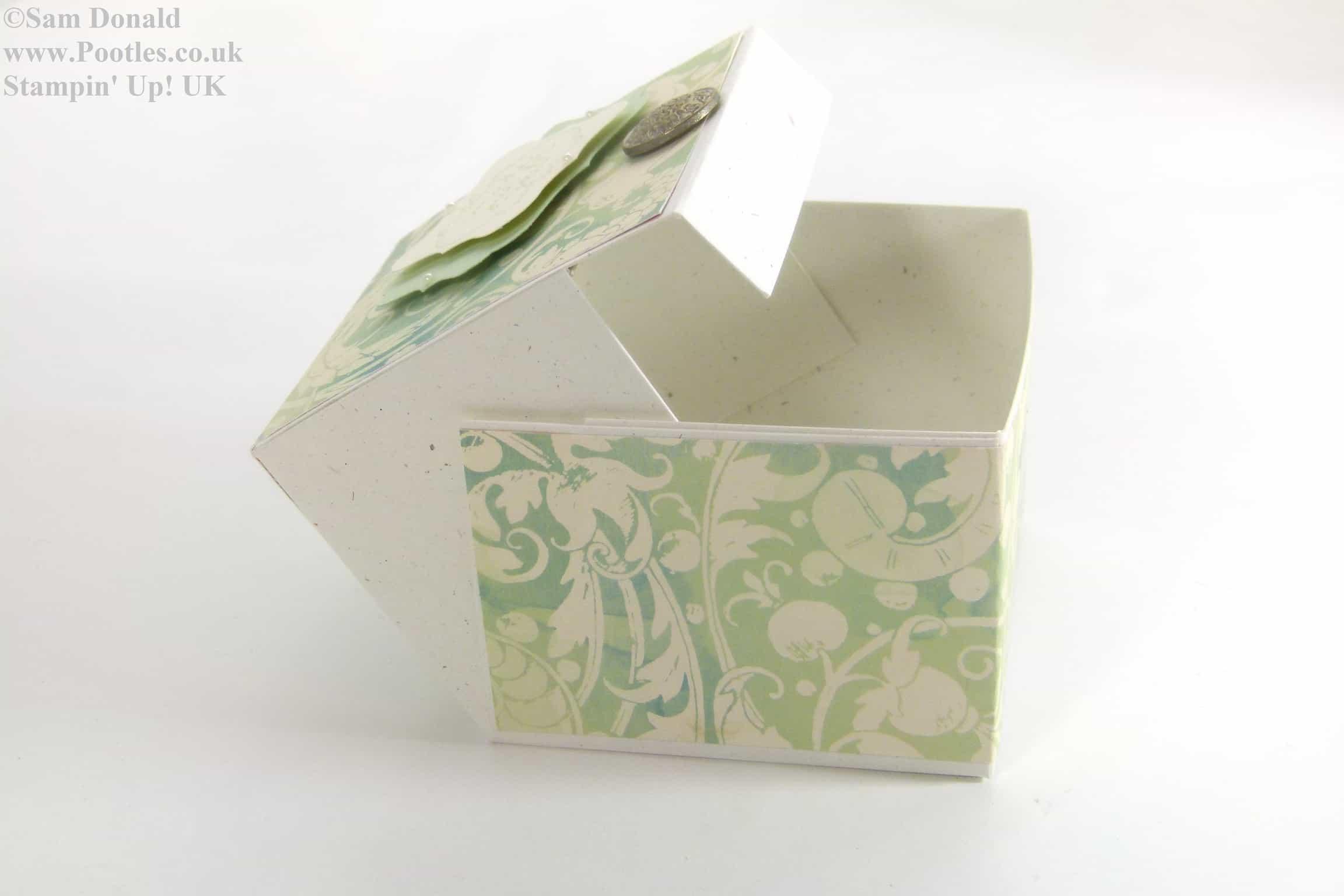 POOTLES Stampin Up Hinged Gift Box Tutorial