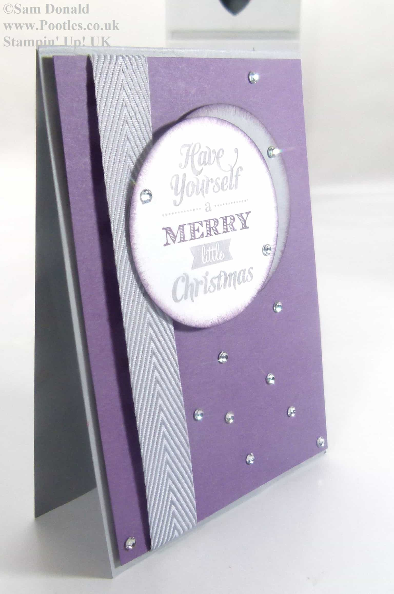 POOTLES Stampin Up Perfect Plum Christmas 2