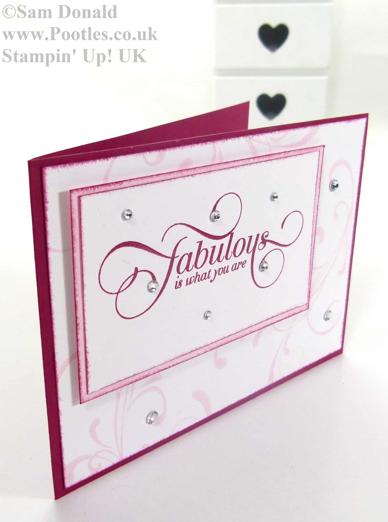 POOTLES Stampin Up Raspberry Ripple Pink Pirouette 2