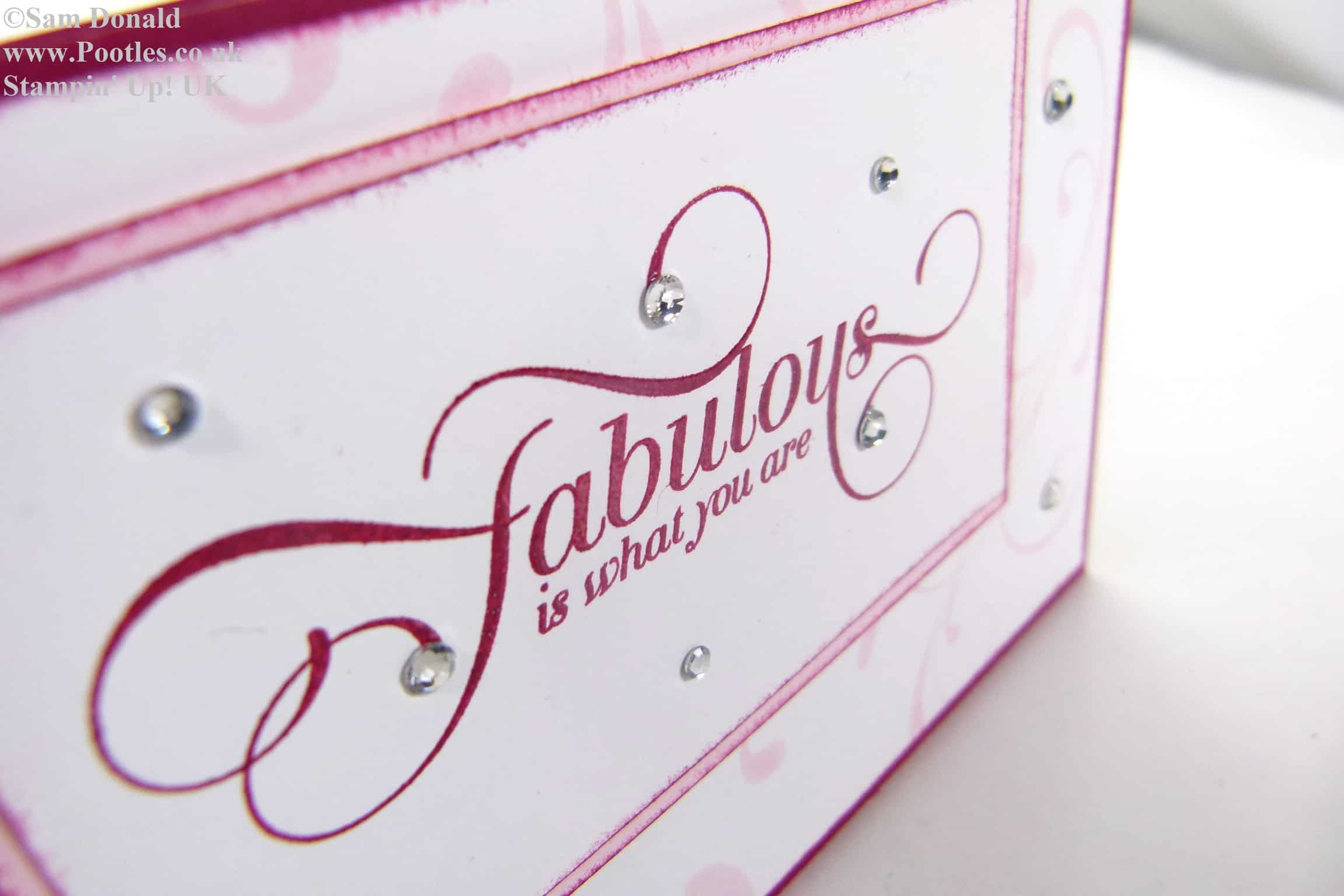 POOTLES Stampin Up Raspberry Ripple Pink Pirouette