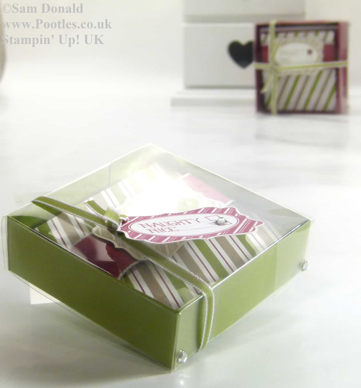 POOTLES Stampin Up UK Advent Countdown 6 Card Box and Acetate Lid 4