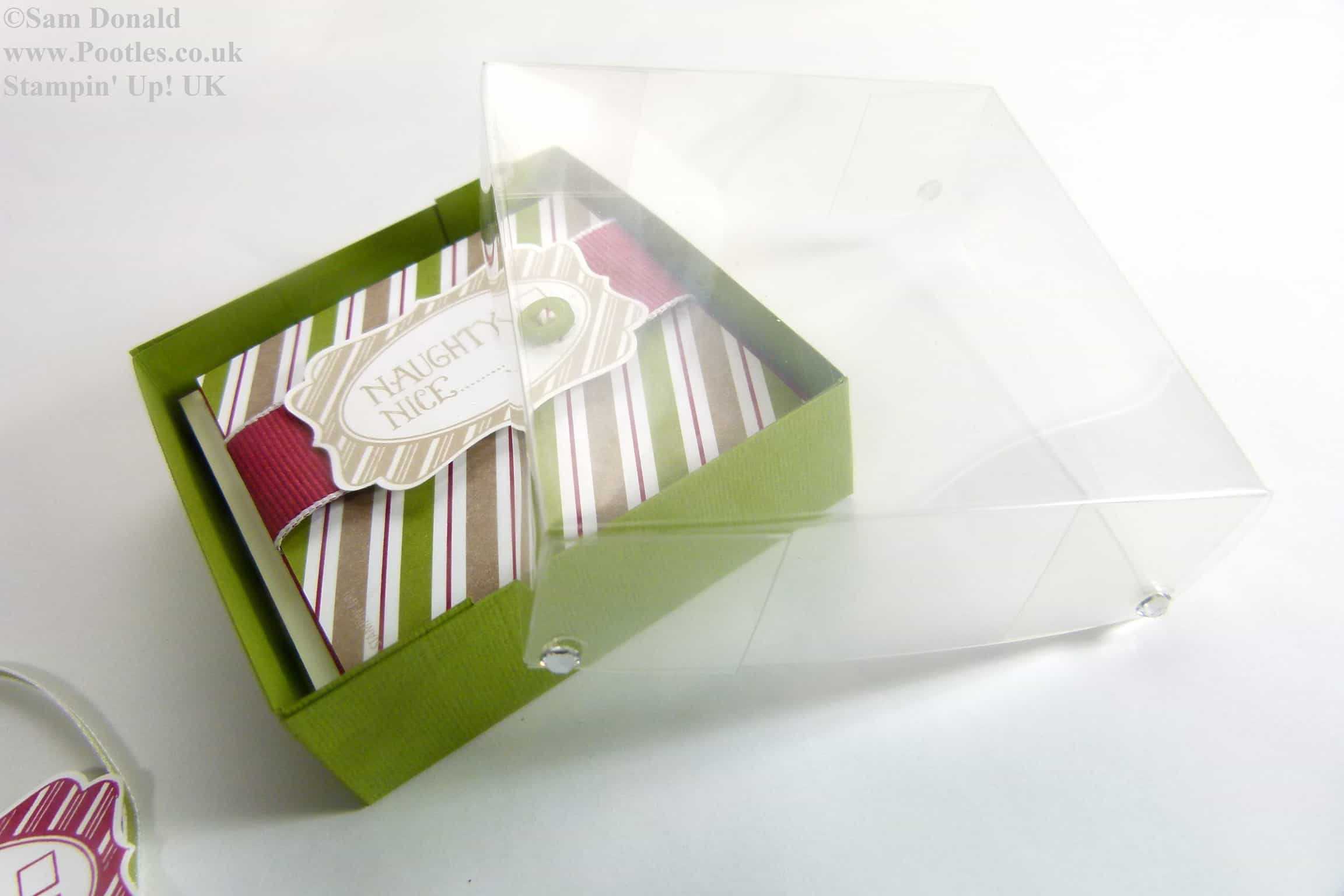 POOTLES Stampin Up UK Advent Countdown 6 Card Box and Acetate Lid