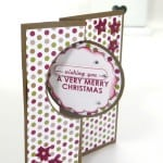 POOTLES Stampin' Up! UK Advent Countdown 8 Thinlits Christmas Card 2 (1)