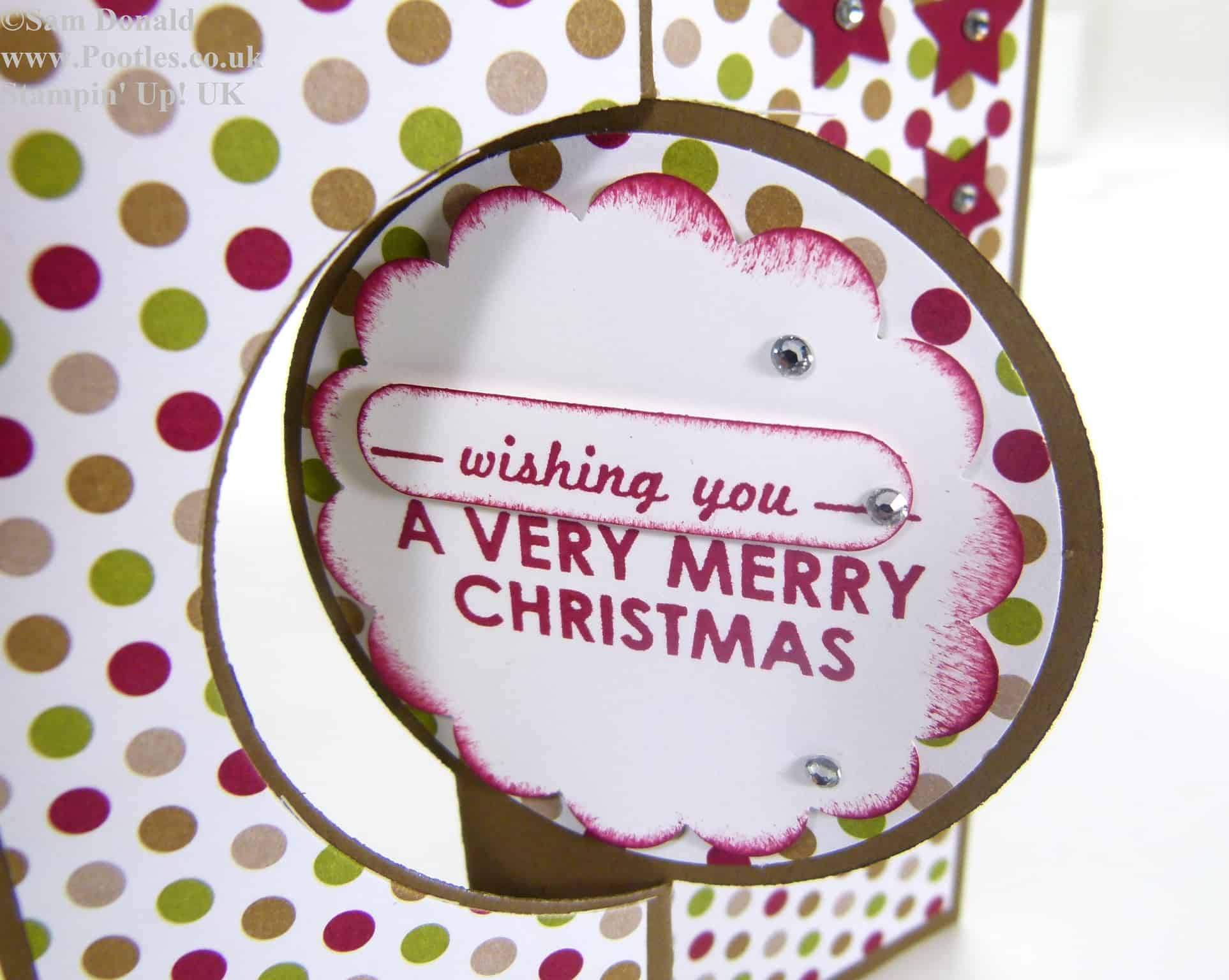 POOTLES Stampin' Up! UK Advent Countdown 8 Thinlits Christmas Card 2 (2)