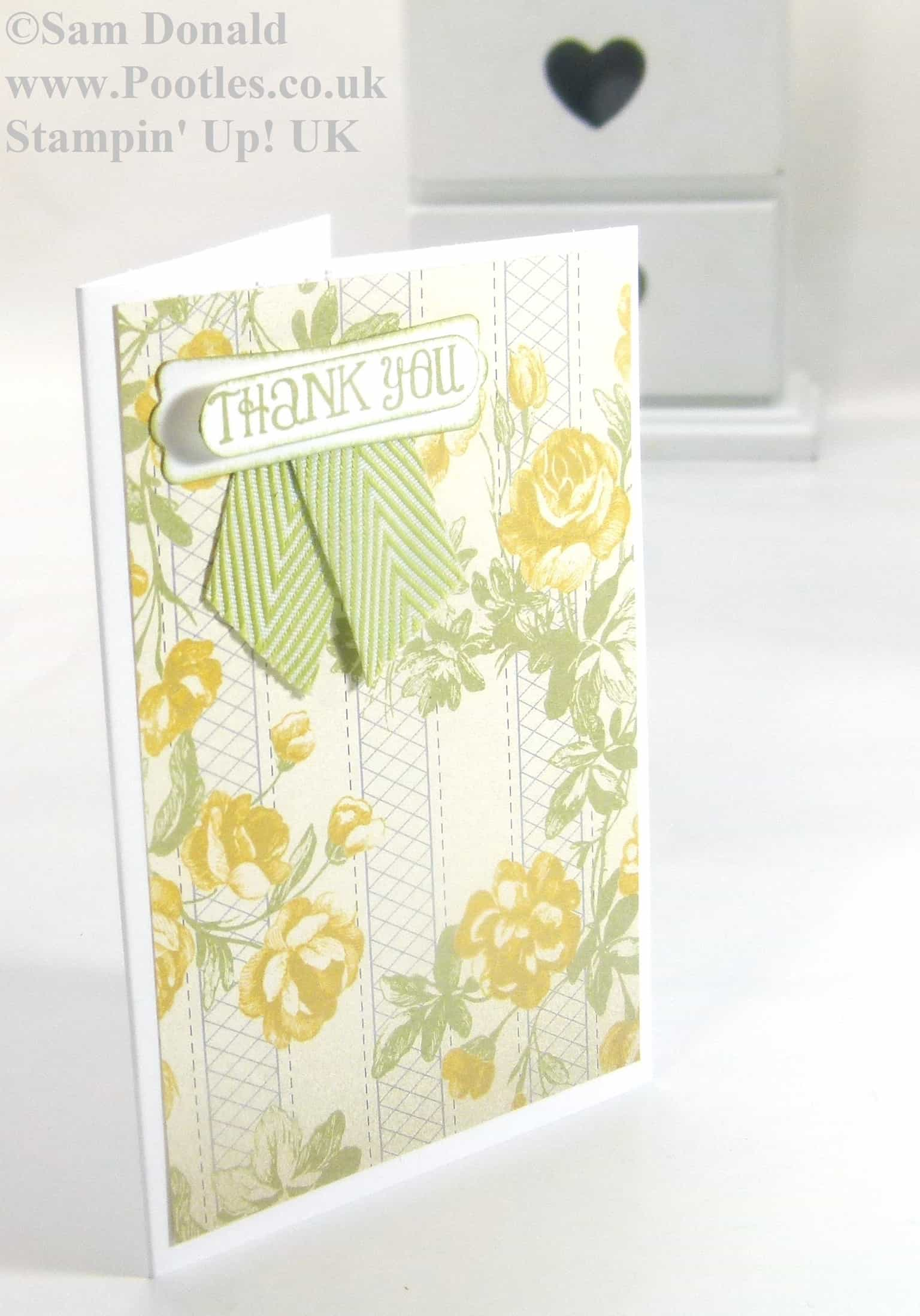 POOTLES Stampin Up UK Afternoon Picnic Thank You 2