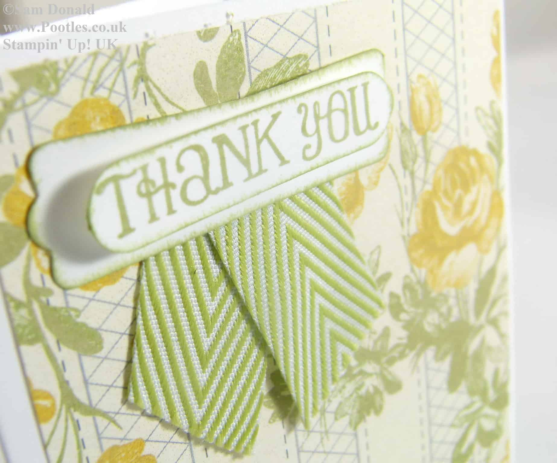 POOTLES Stampin Up UK Afternoon Picnic Thank You