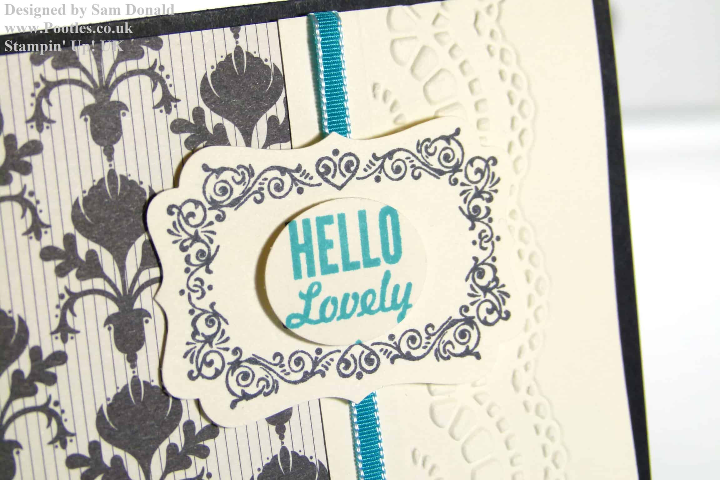 POOTLES Stampin Up UK Hello, Lovely Bermuda Bay Modern Medley! (mini giveaway!)