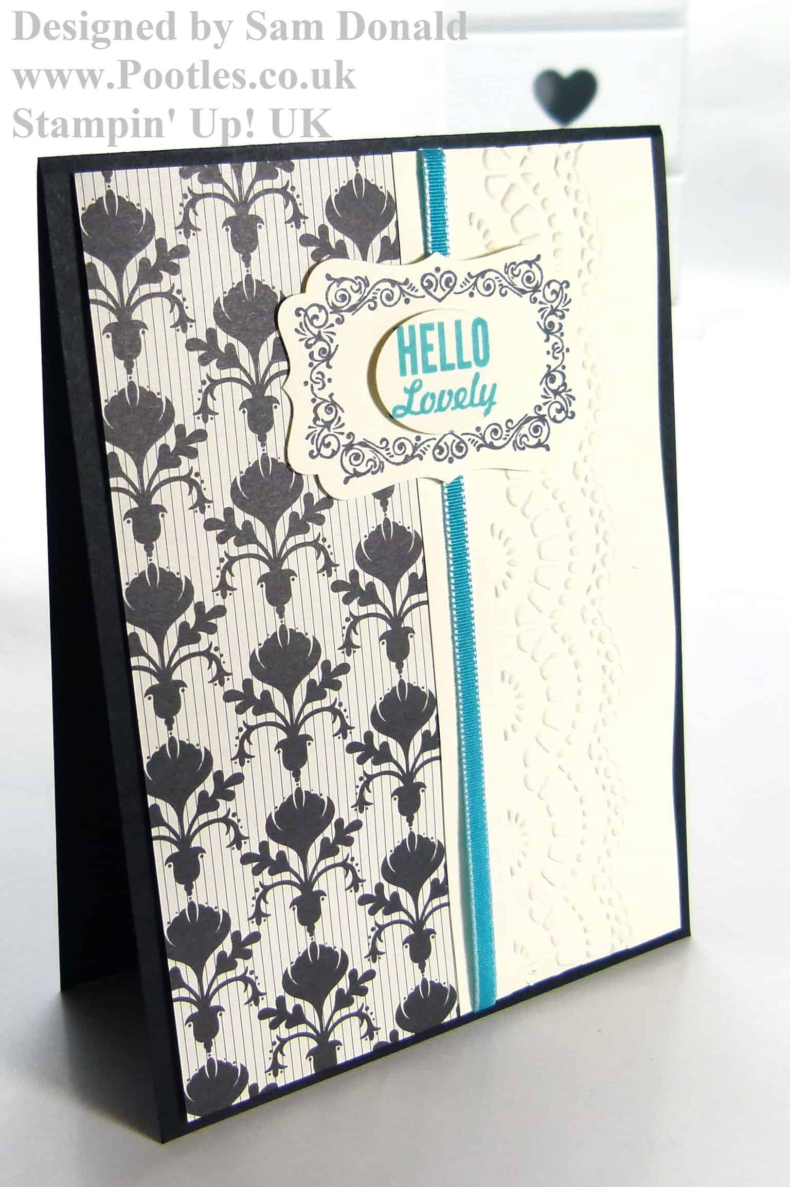 POOTLES Stampin Up UK Hello, Lovely Bermuda Bay Modern Medley! (mini giveaway!)2