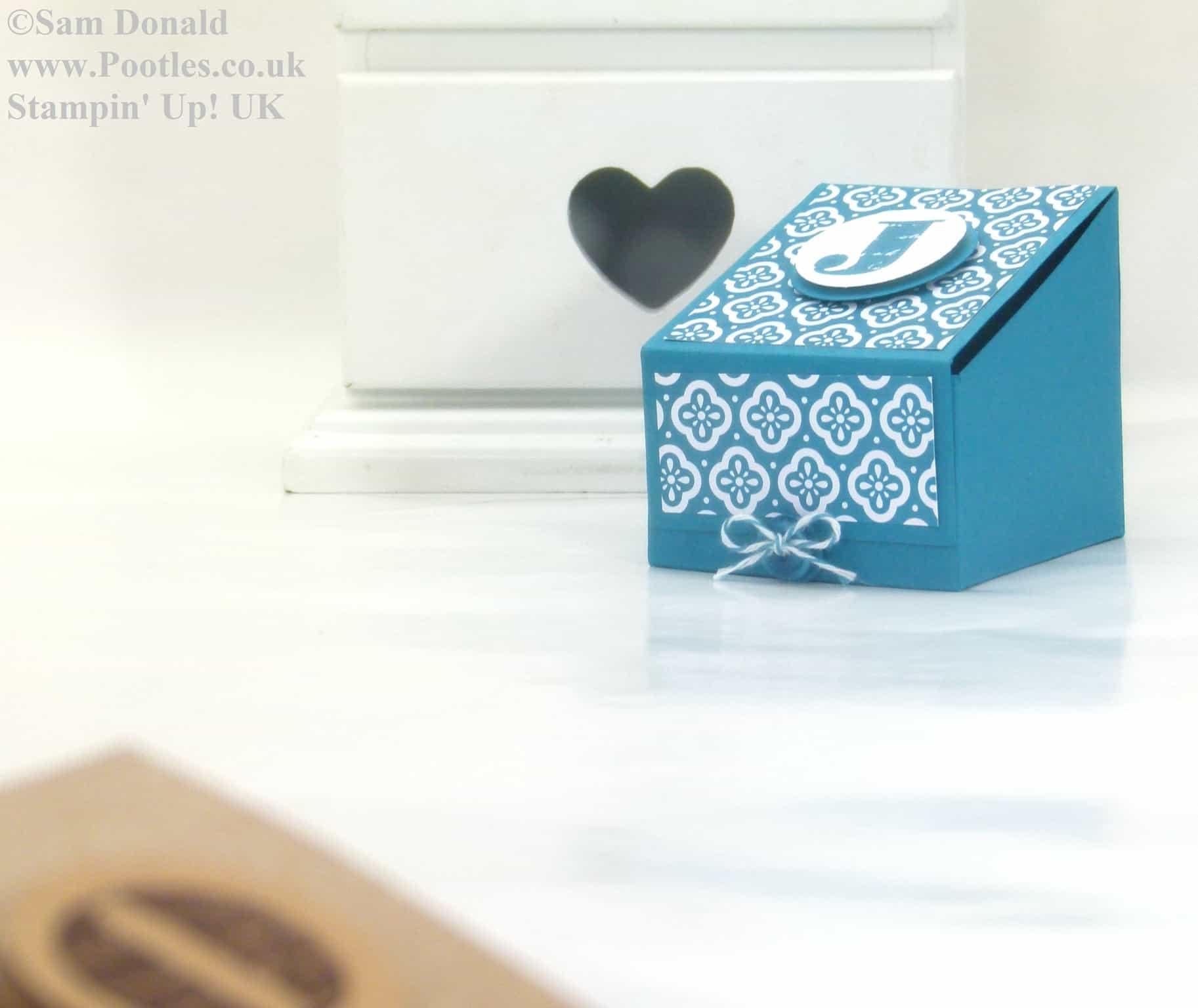 Pootles Stampin Up UK Sloping Sided Gift Treat Box 3