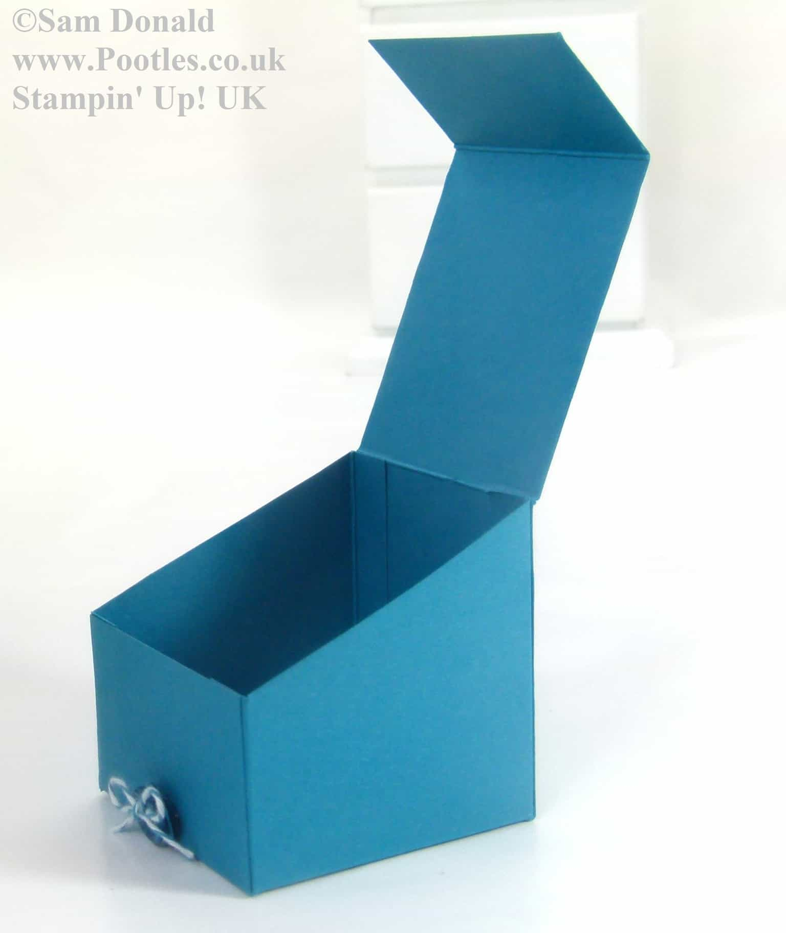 Pootles Stampin Up UK Sloping Sided Gift Treat Box