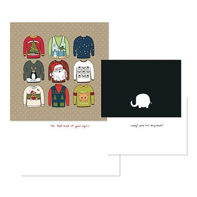 Spunky Sweater Greeting Card Teamplates