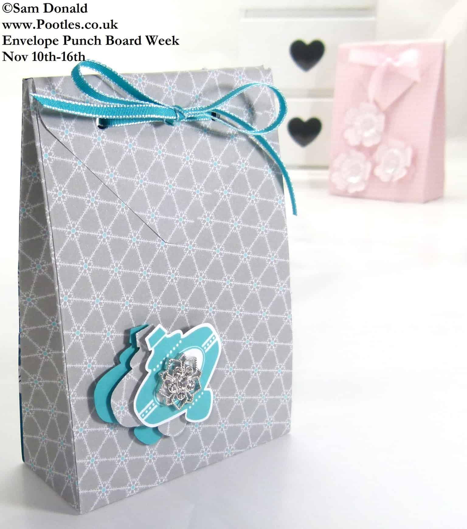 POOTLES Stampin Up ENVELOPE PUNCH BOARD WEEK The Folded Gift Bag  4