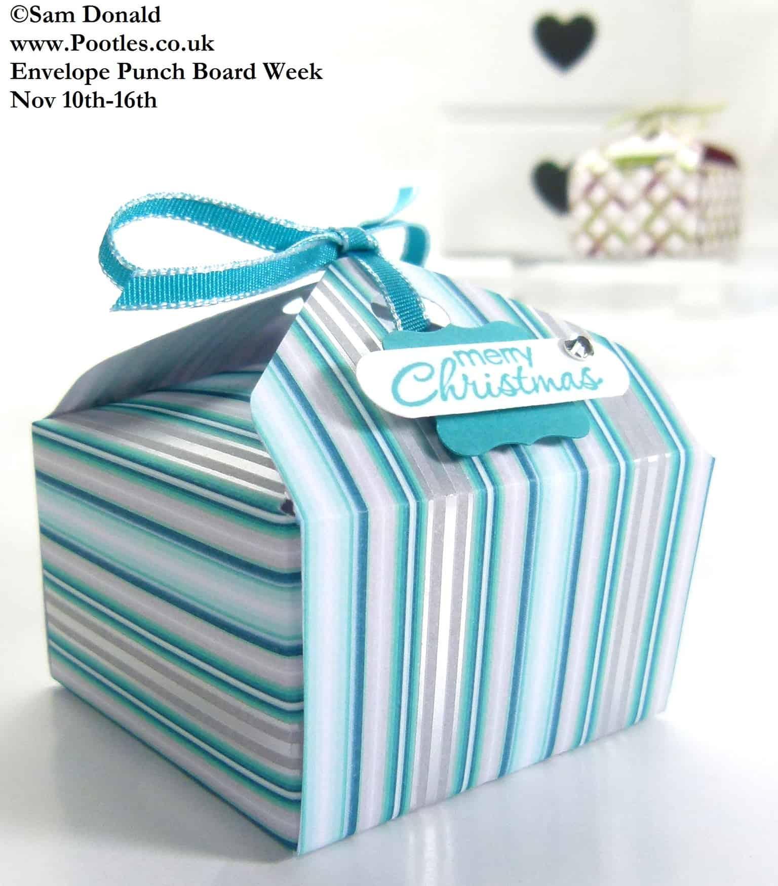 POOTLES Stampin Up ENVELOPE PUNCH BOARD WEEK The Tab Tie Box 3