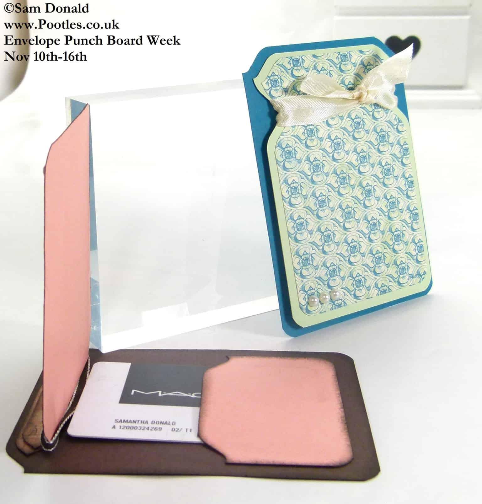 POOTLES Stampin Up ENVELOPE PUNCH BOARD WEEK The Unusual Gift Card Holder