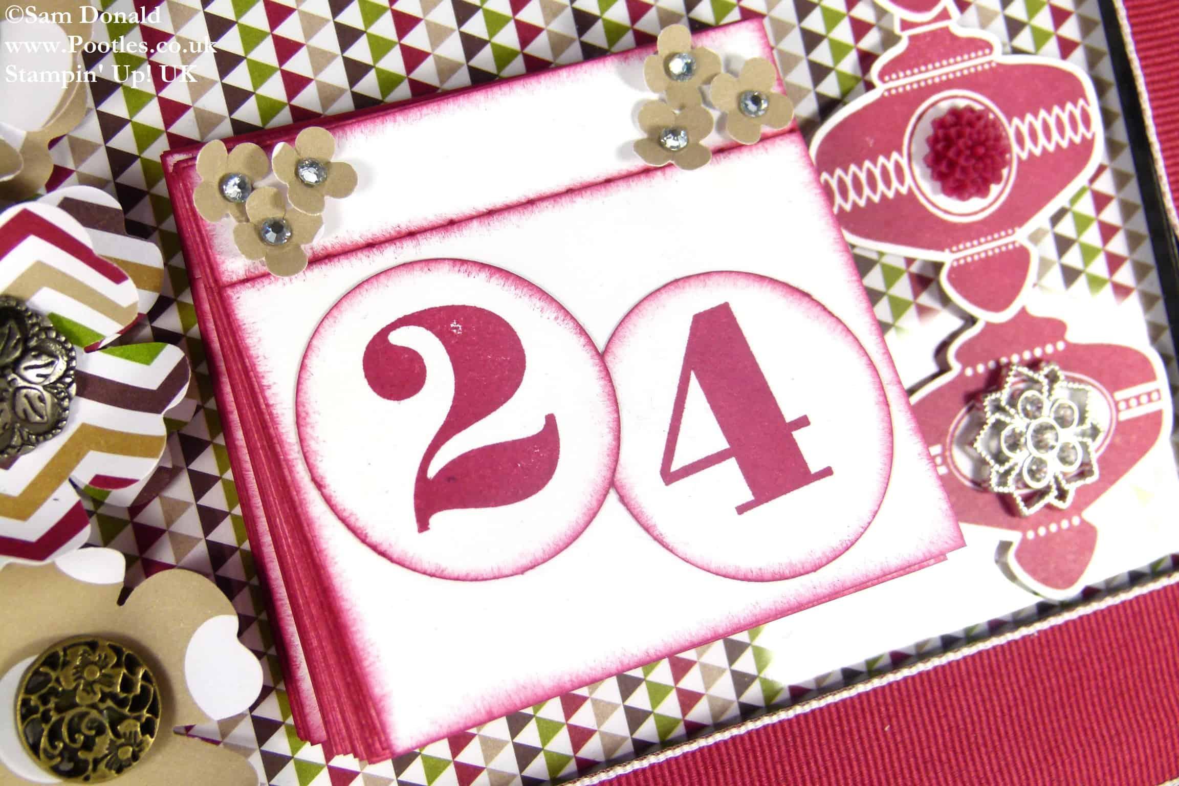POOTLES Stampin Up UK ADVENT COUNTDOWN Countdown Calendar Build 2