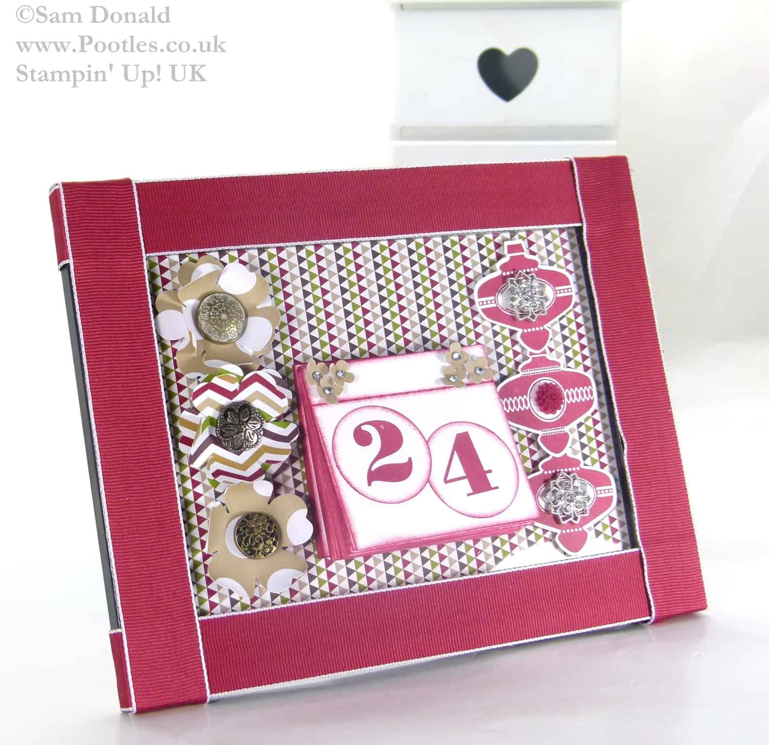 POOTLES Stampin Up UK ADVENT COUNTDOWN Countdown Calendar Build 3