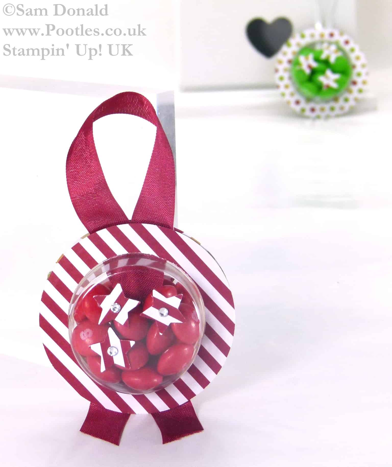 POOTLES Stampin Up UK ADVENT COUNTDOWN Sweetie Decorations Video Plus Bloopers..! 3