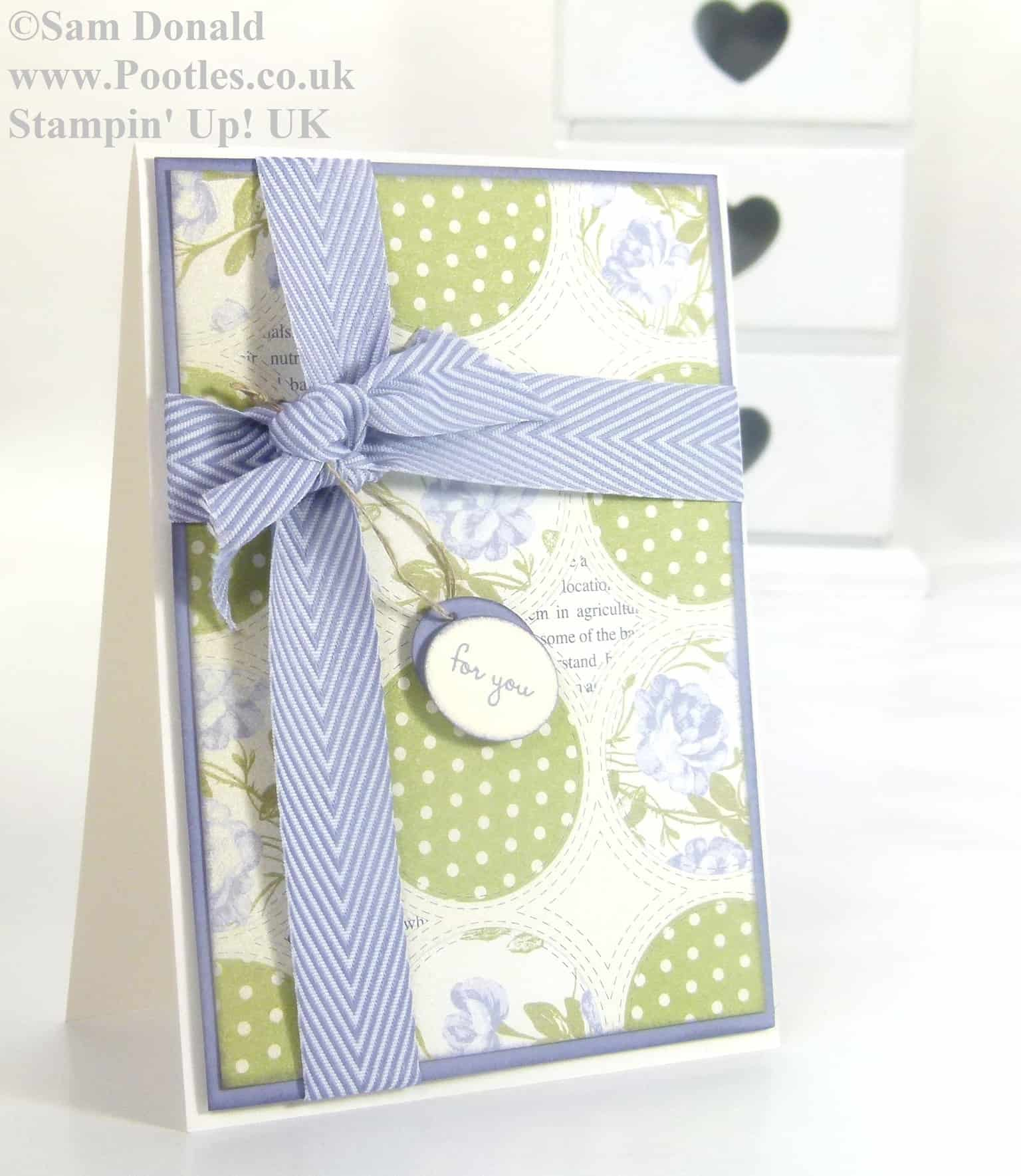 POOTLES Stampin Up UK Afternoon Picnic Wisteria Wonder 2