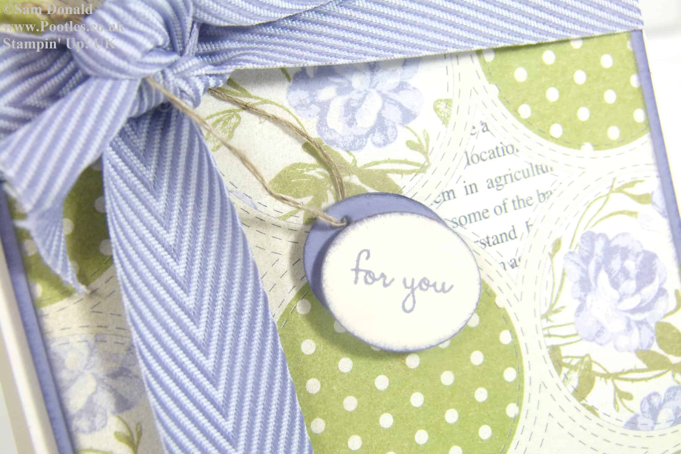 POOTLES Stampin Up UK Afternoon Picnic Wisteria Wonder