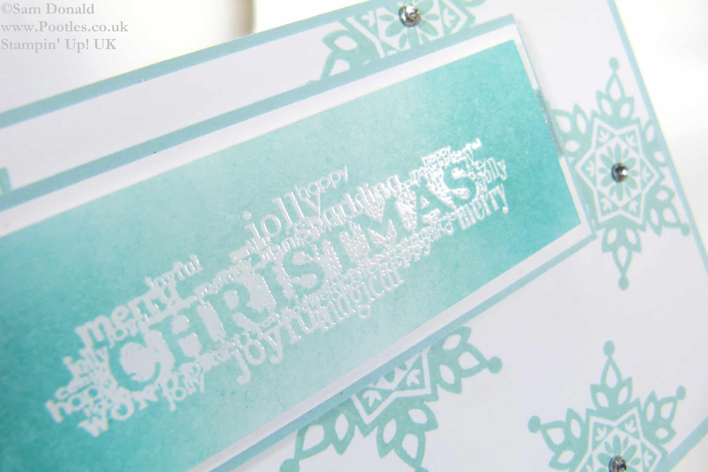 Pootles Stampin Up UK Emboss Resist Seasonal Christmas 2