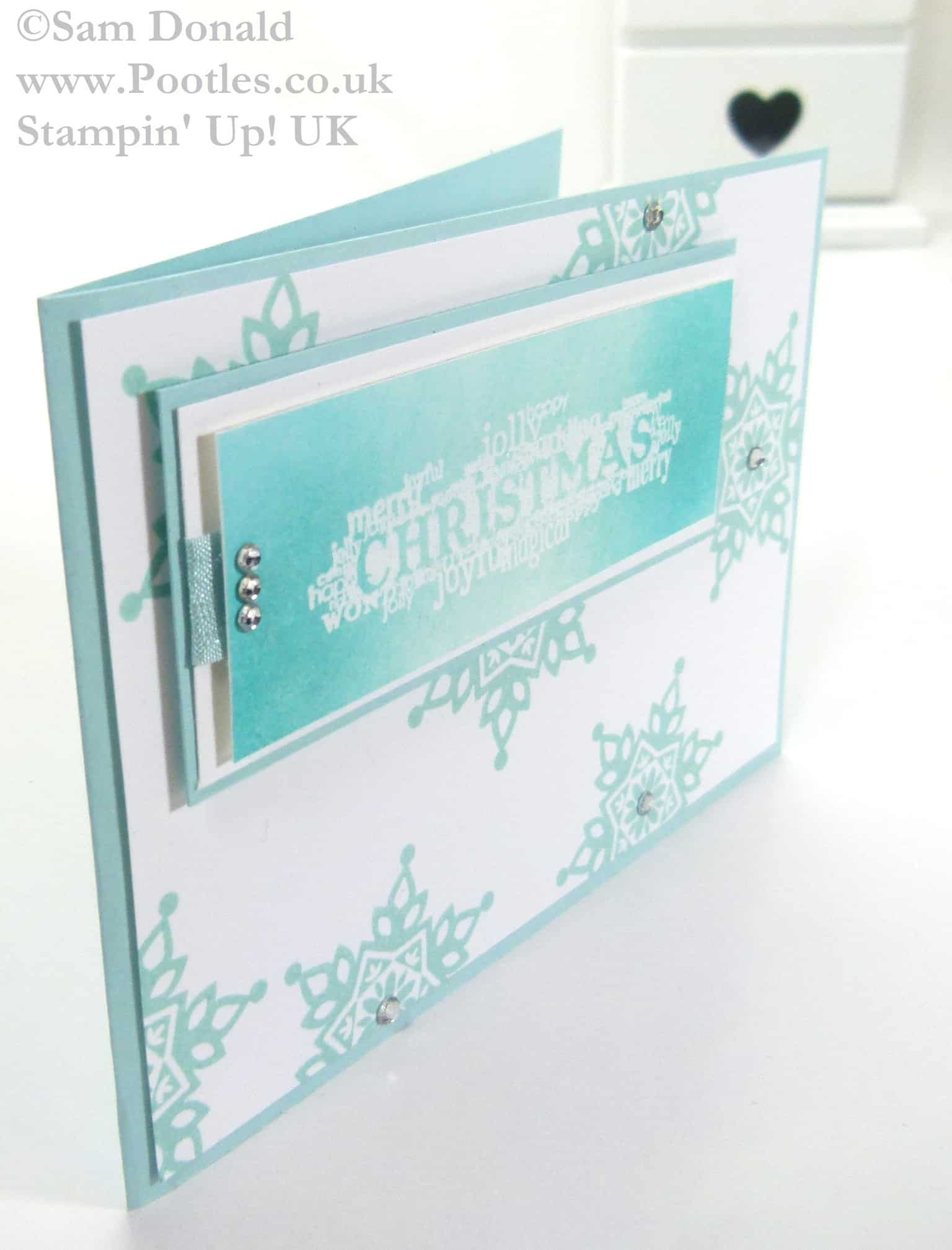Pootles Stampin Up UK Emboss Resist Seasonal Christmas 3