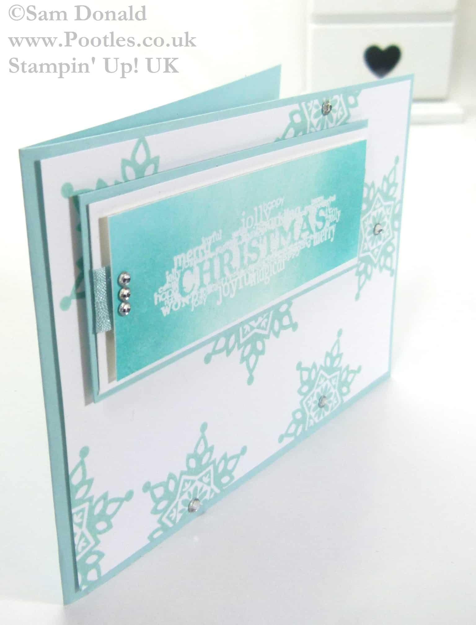 Pootles Stampin Up UK Emboss Resist Seasonal Christmas 3