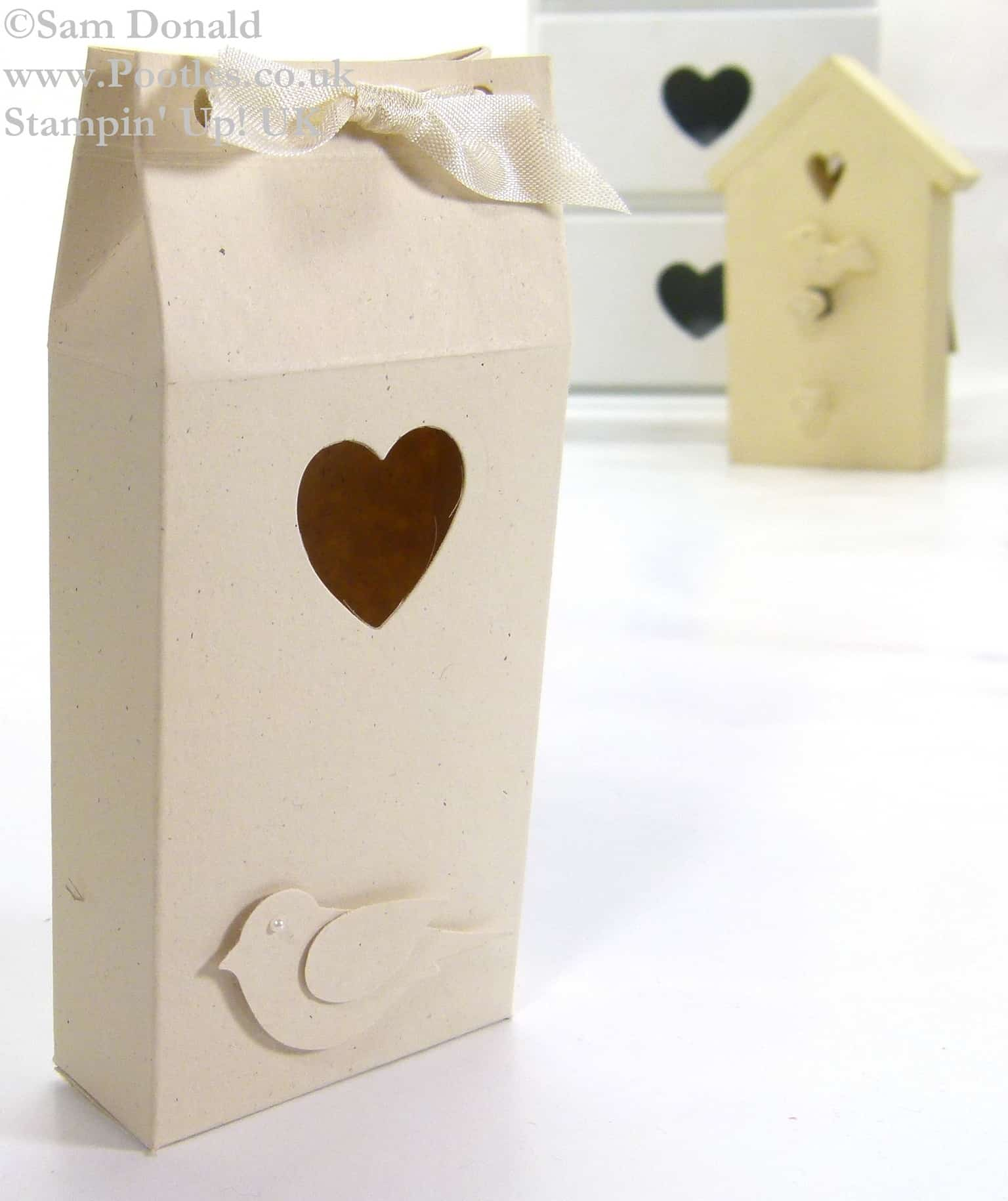 POOTLES Stampin Up UK Inspired Bird Gift Box Tutorial 2