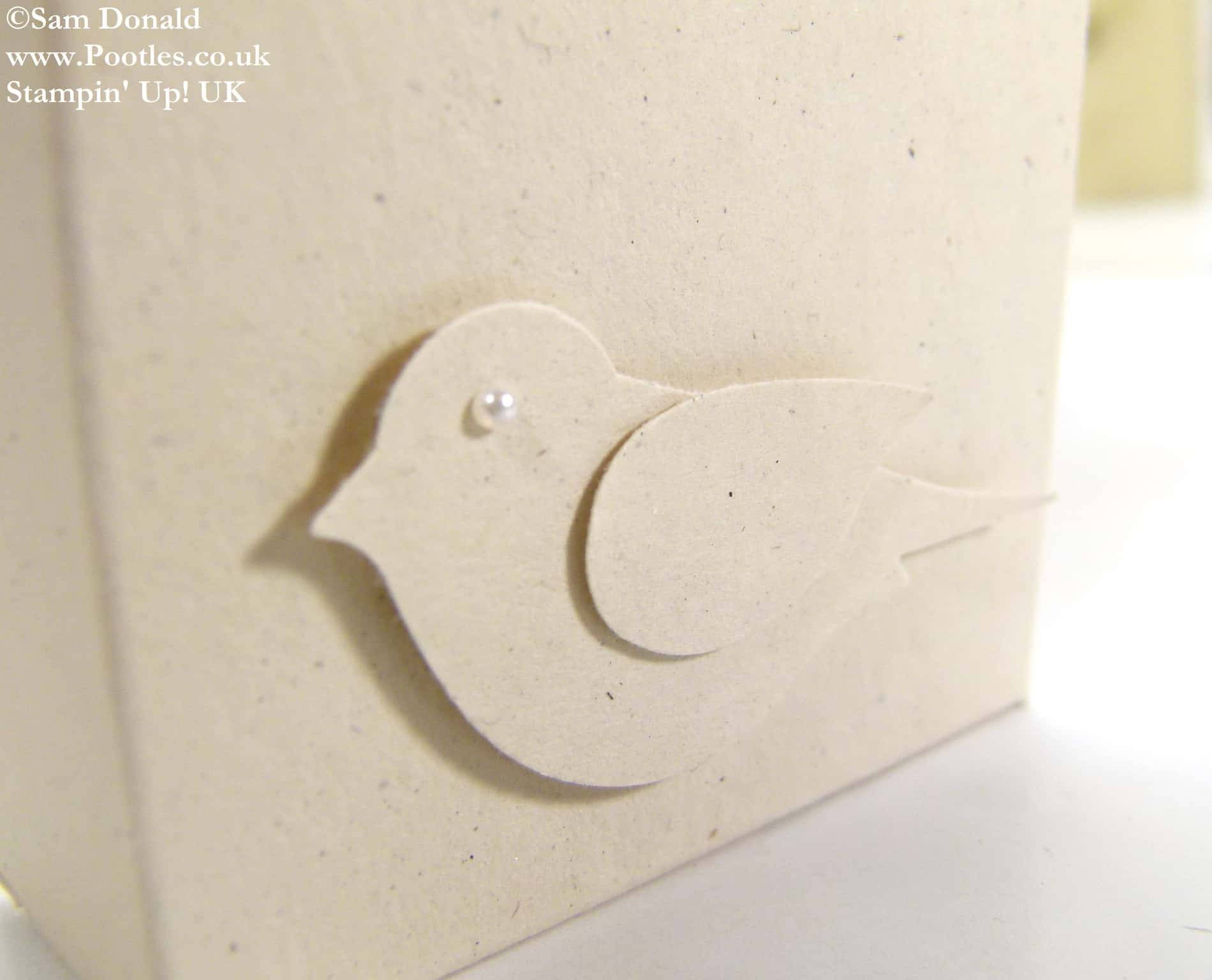 POOTLES Stampin Up UK Inspired Bird Gift Box Tutorial