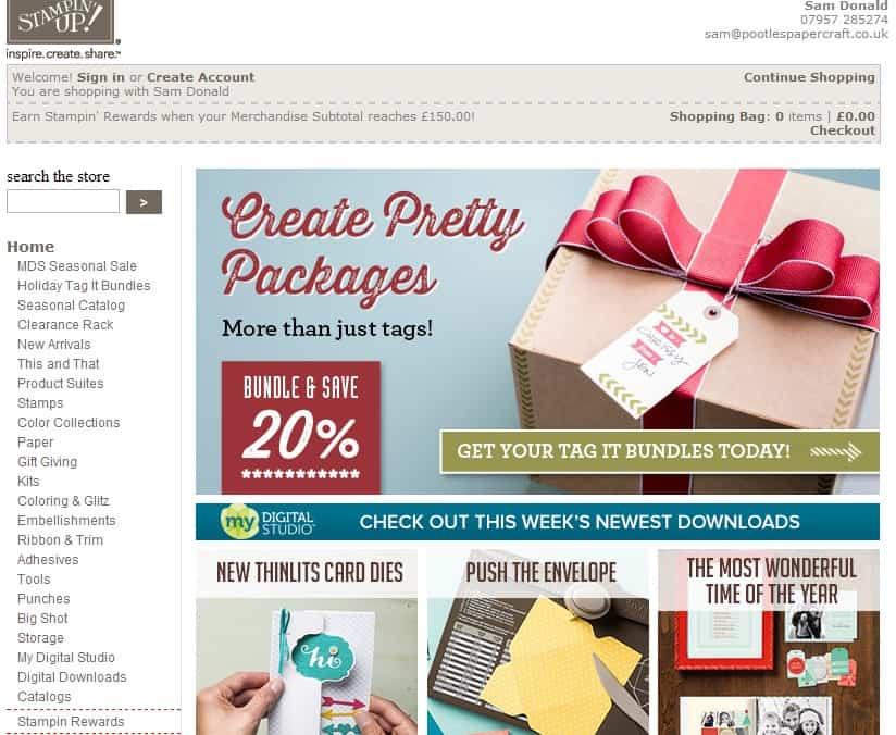 Stampin' Up! UK Online Shopping Rewards System Explained